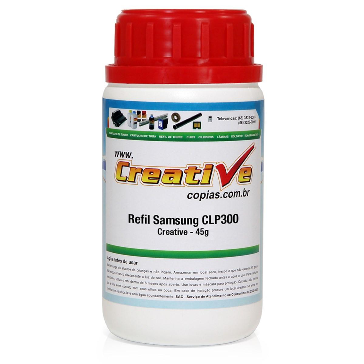 Toner Refil Samsung CLP300 CLP300N CLX2160 CLX3160N | M300A | Magenta | 45g