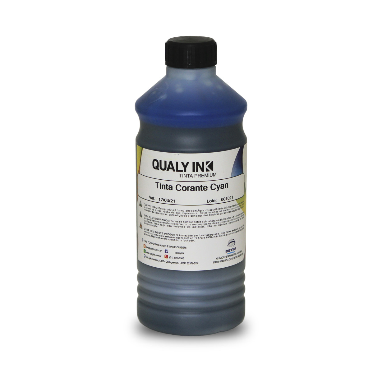 Tinta Brother LC-505C LC505 Ciano Corante CC2B-1173 | DCP-J105 DCP-J200 | Qualy Ink 1kg
