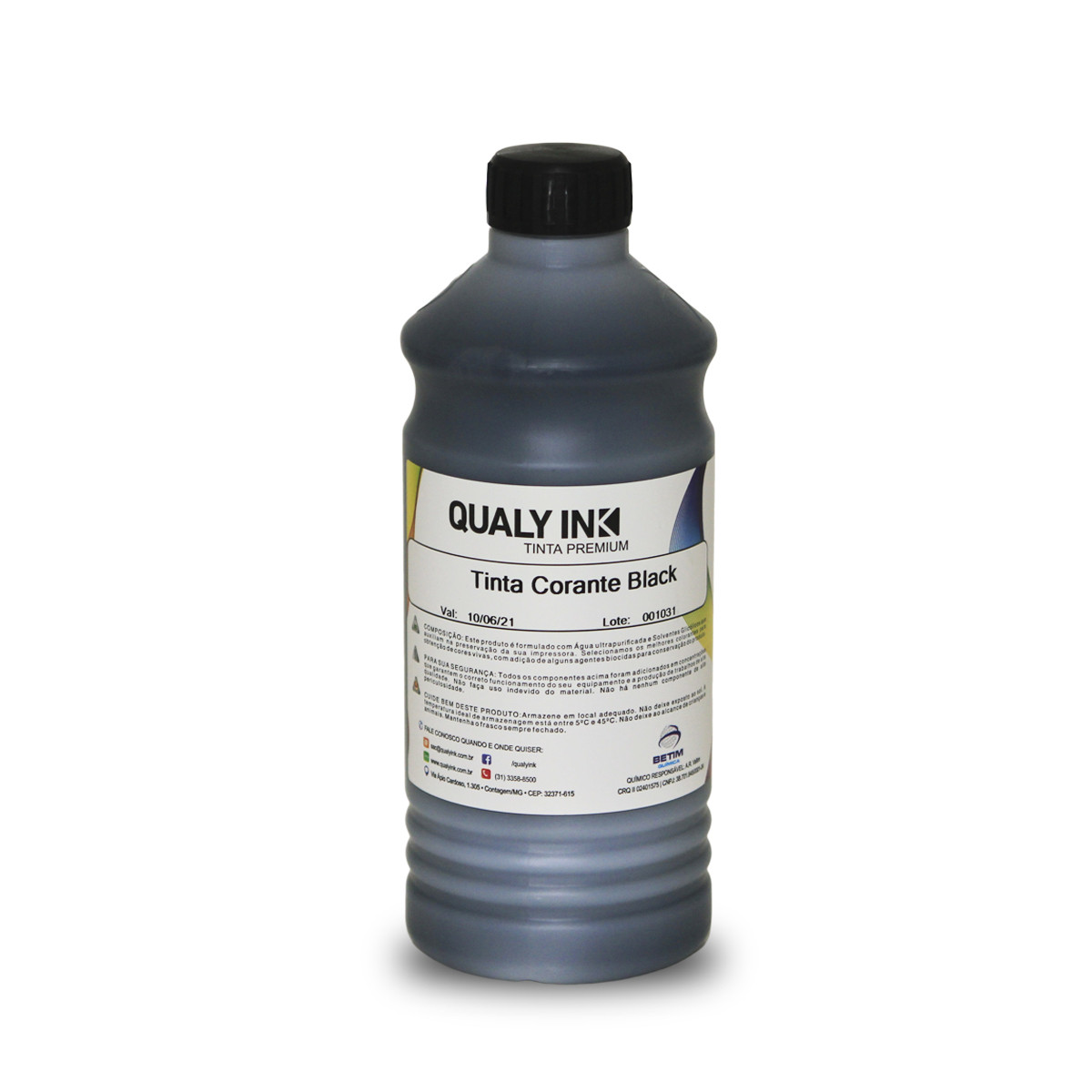Tinta Brother BT-6001BK Preto Corante BC2B-1171 | DCP-T300 DCP-T500W DCP-T700W | Qualy Ink 1kg