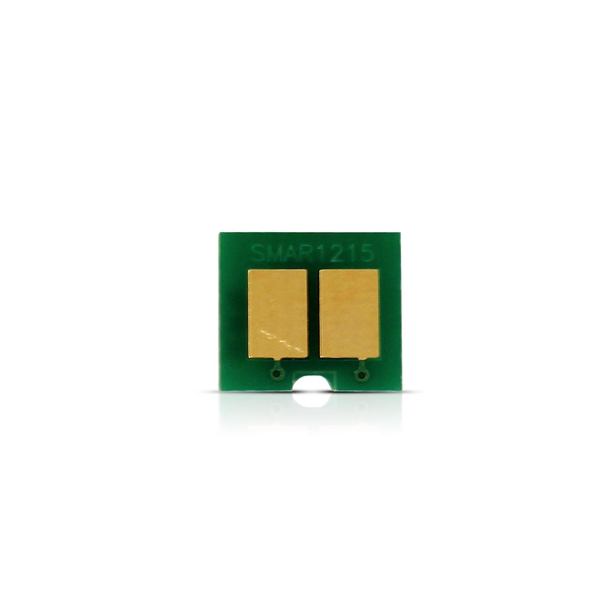Kit 2 Chip HP CB542A 542A 125A Amarelo | CP1215 CP1510 CP1515 CM1312 CP1518 | 1.400 impressões