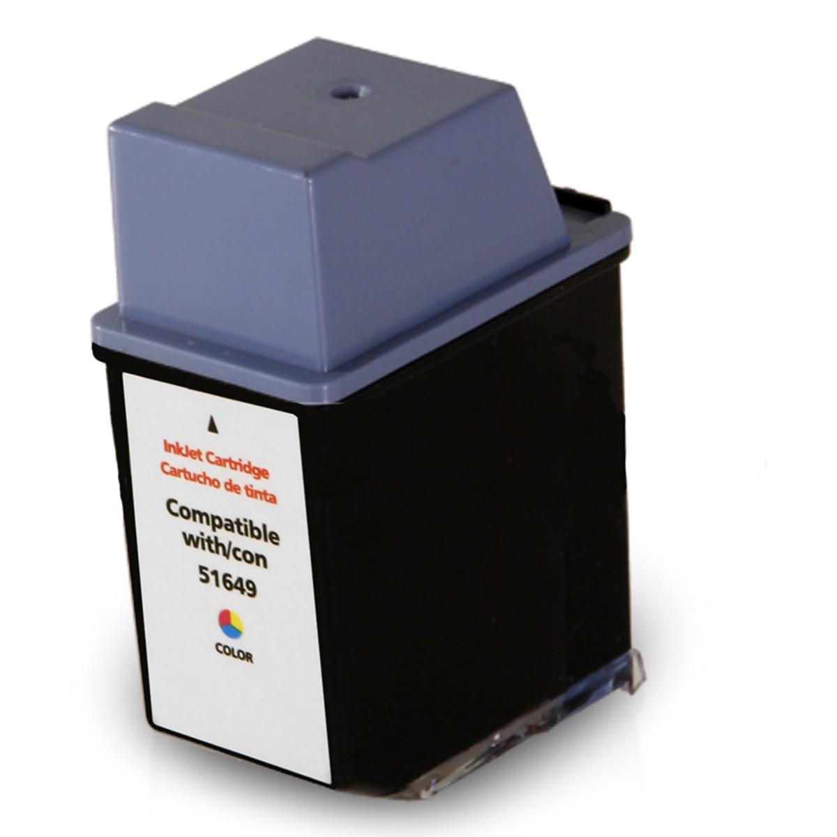 Cartucho de Tinta Compatível com HP 49 51649A Colorido | Deskjet 350 Officejet 500 PSC-370 | 21ml