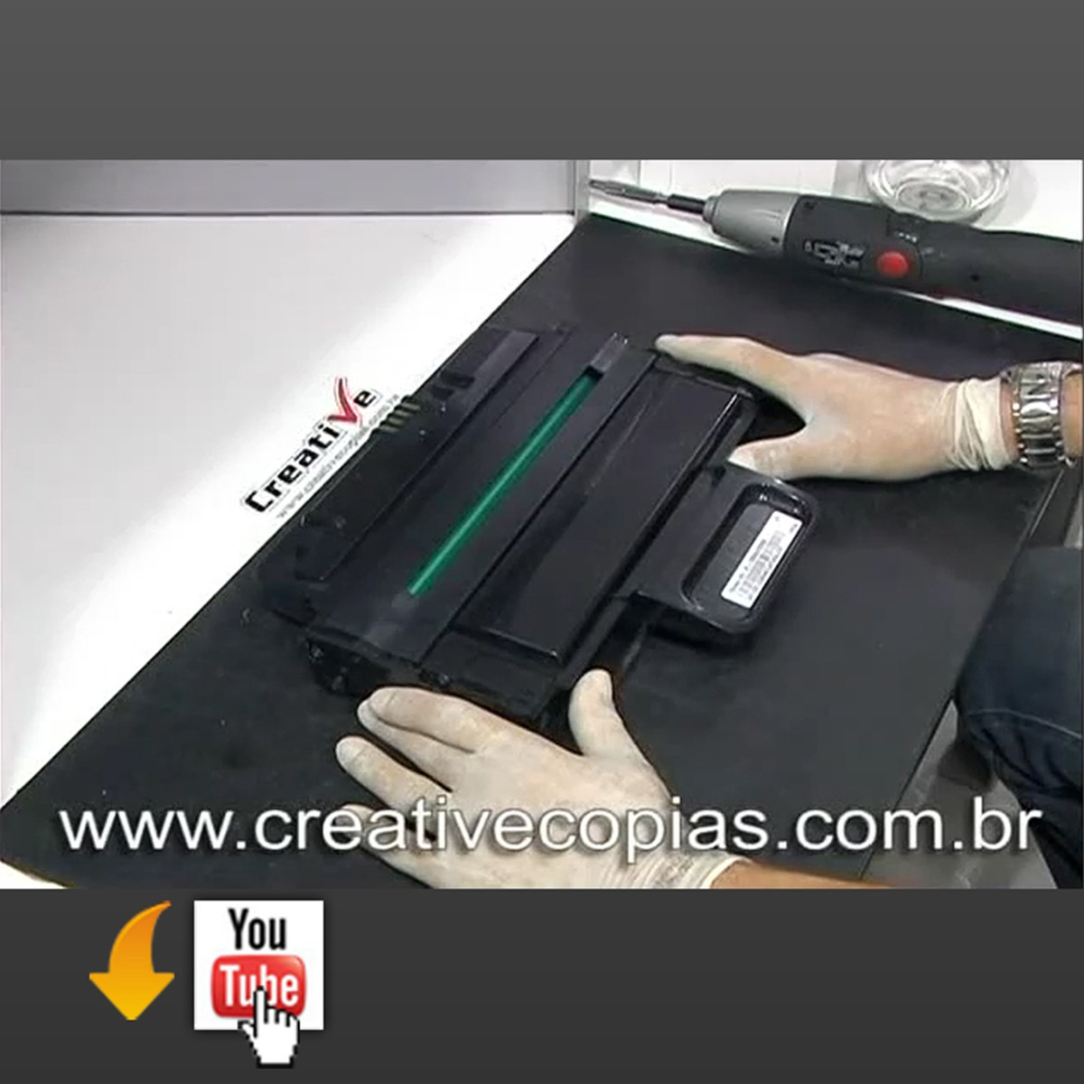 Video Aula Recarga Toner Samsung ML-2850, ML-2850D, ML-2851, ML-2851ND