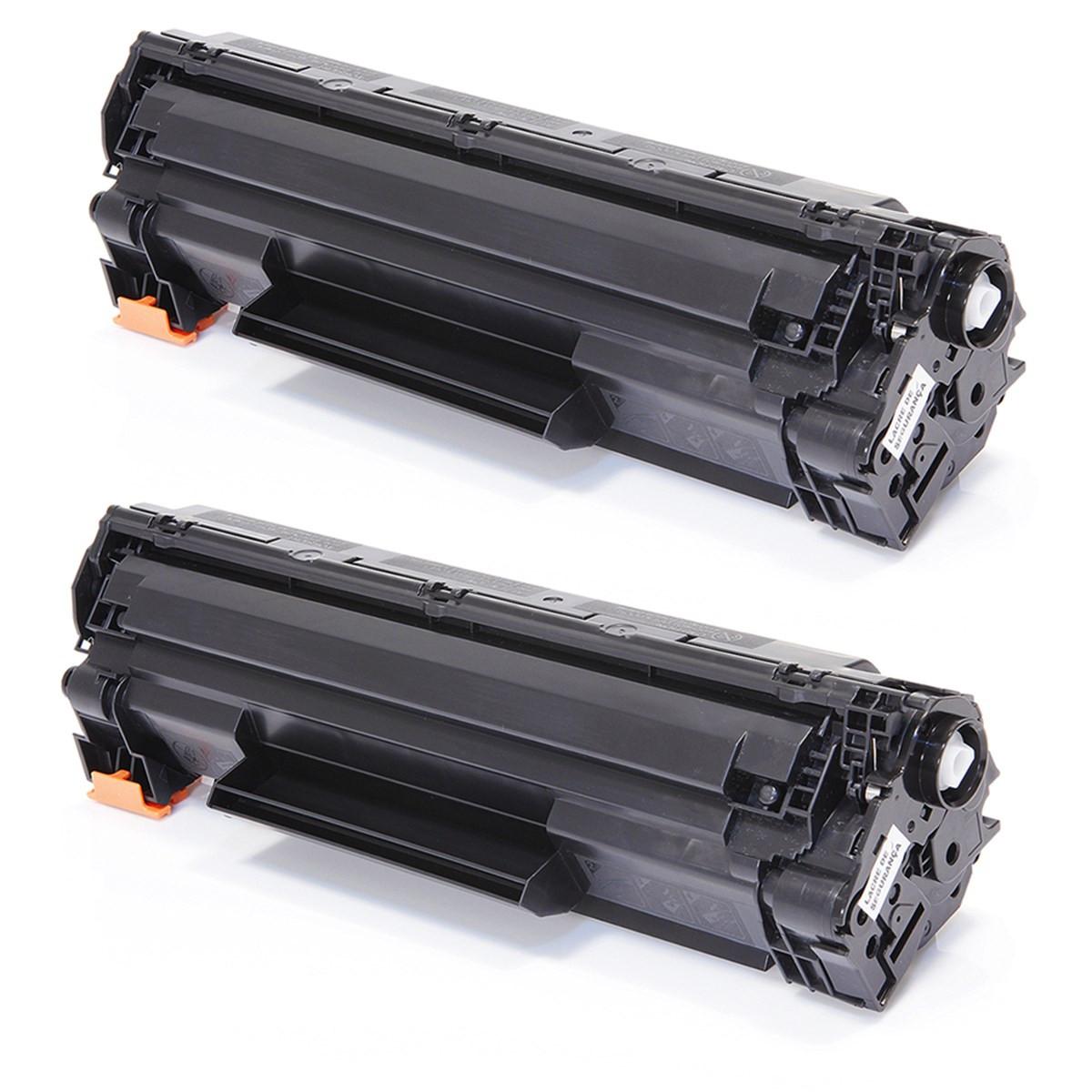 Kit 2 Toner Compatível com HP CB436A CB436AB | P1505 P1505N M1120 M1522 M1522N M1522NF Premium 1.8k