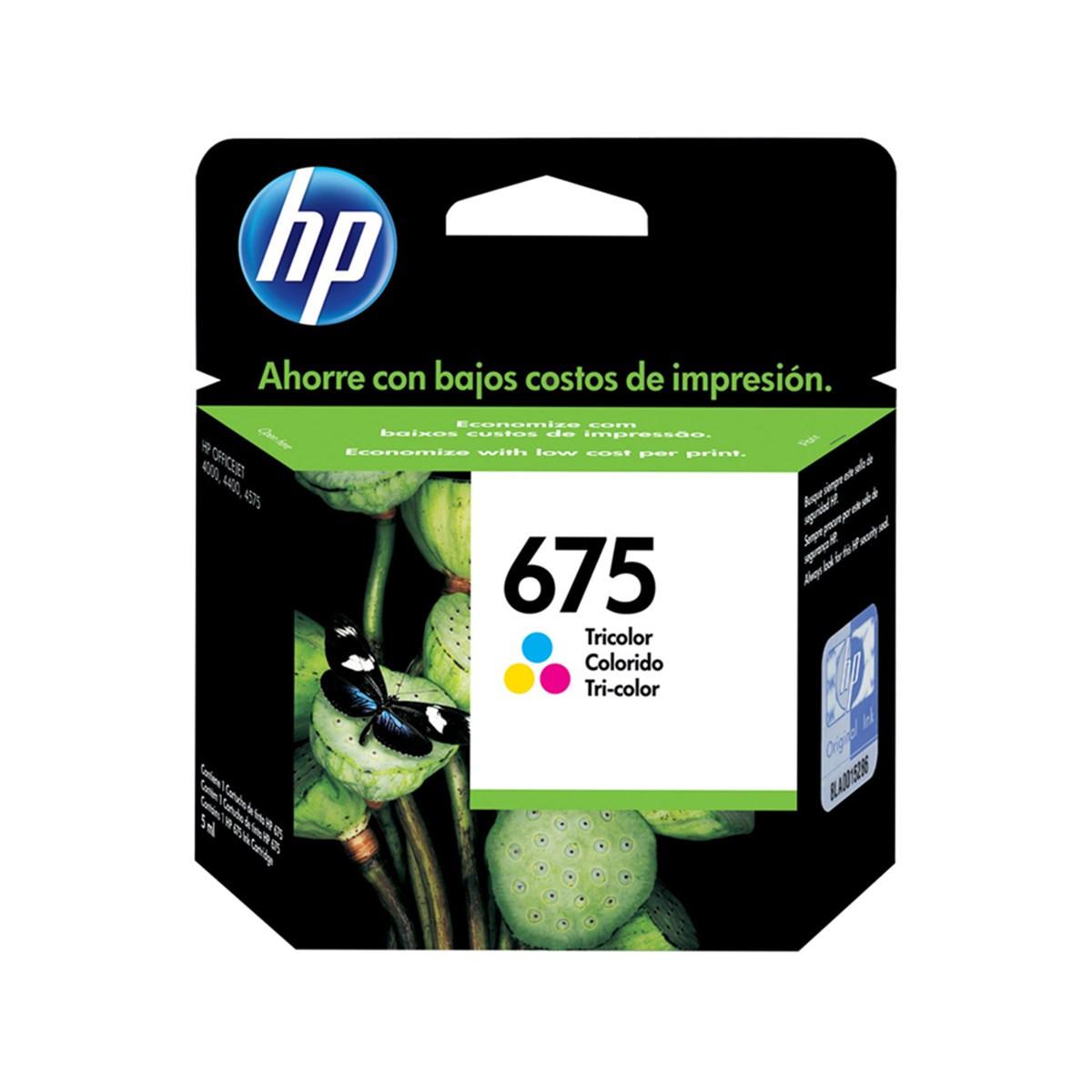 Cartucho de Tinta HP 675 CN691AL Colorido | Original 9 ml