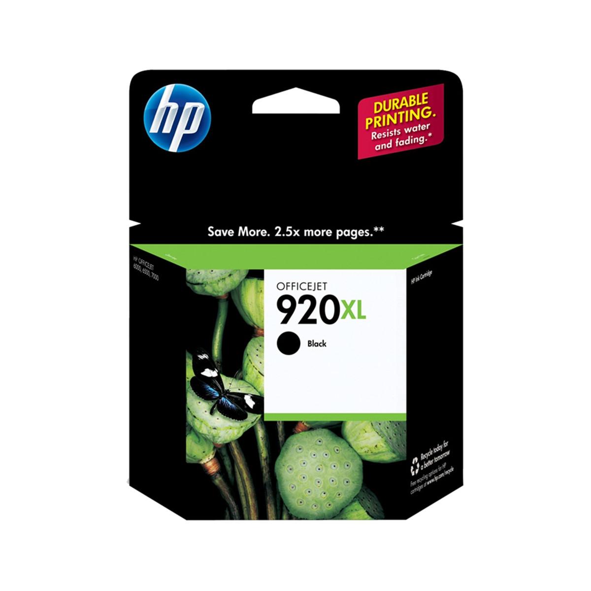 Cartucho de Tinta HP 920XL 920 Preto CD975AL | 6000 6500 6000WL 6500WL 7500A | Original 29 ml