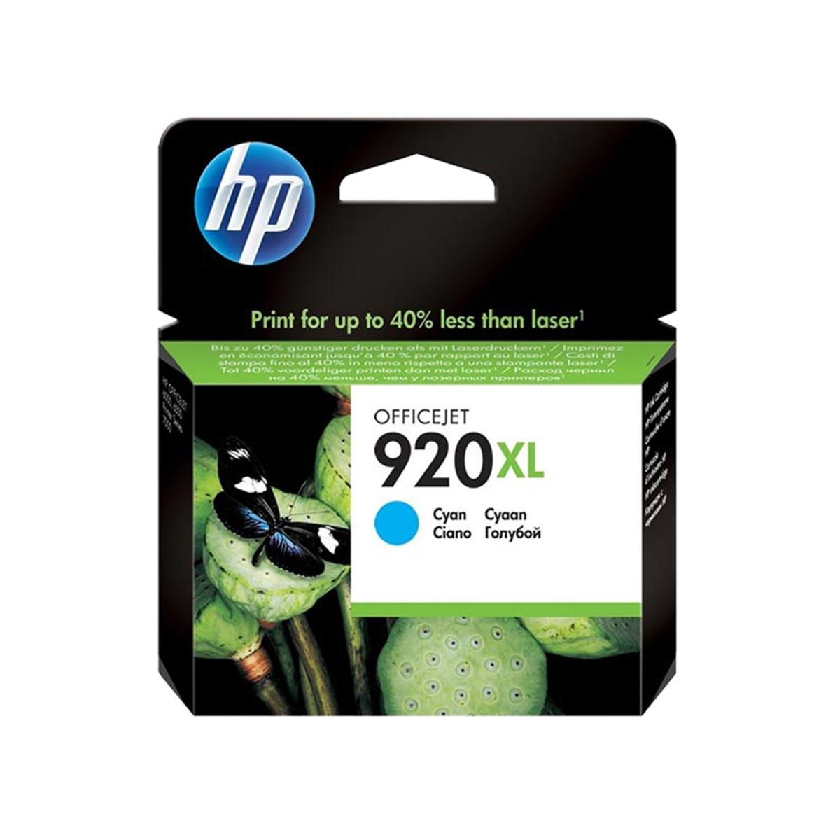 Cartucho de Tinta HP 920XL 920 Ciano CD972AL | 6000WL 6500WL 6000 6500 7500A | Original 6ml