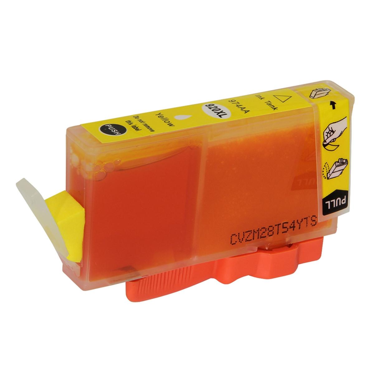 Cartucho de Tinta Compatível com HP 920XL 920 CD974AL Amarelo | 6500 Officejet 6000 E709 | 13ml