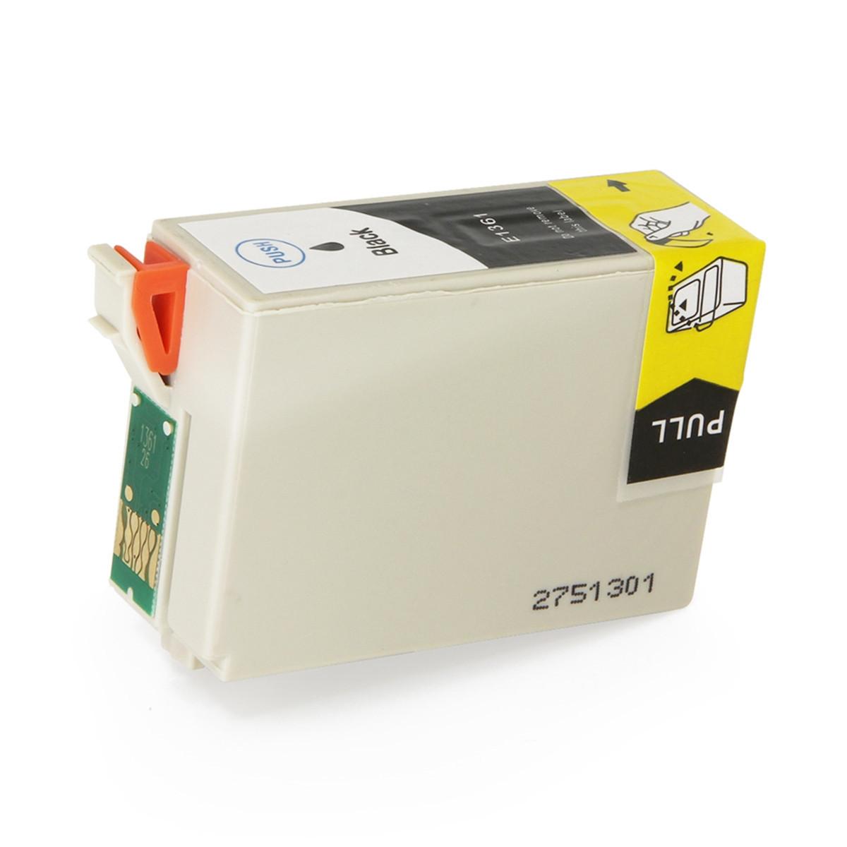 Cartucho de Tinta Compatível com Epson T136126 T136 T1361 Preto | Workforce K101 K301 | 35,5 ml