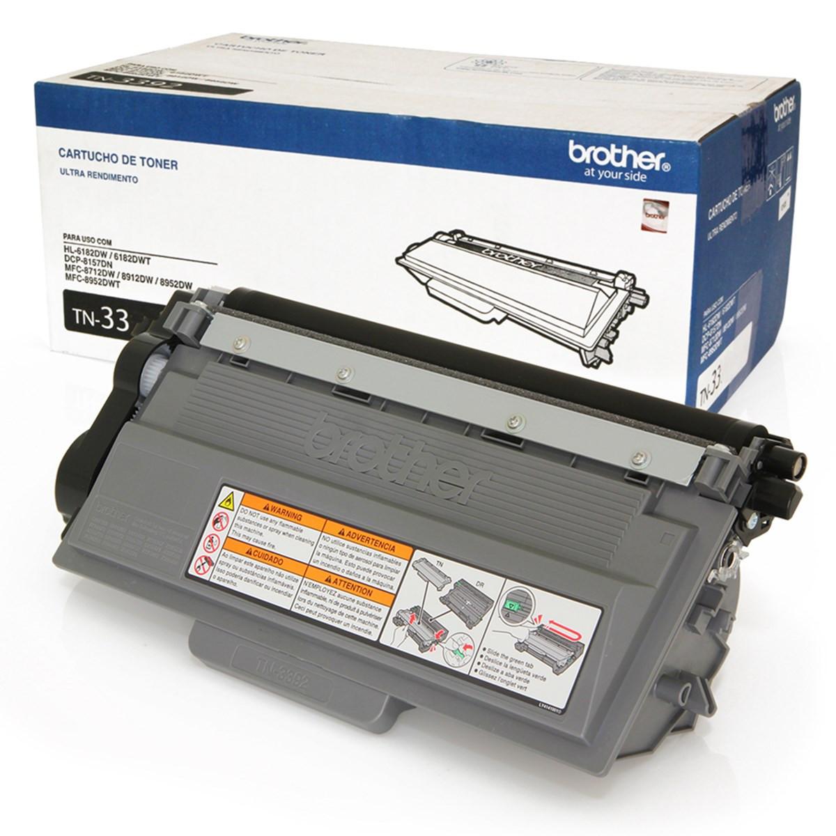 Toner Brother TN-3332 | DCP8112 HL5452 HL5472 DCP8152 MFC8512 8112DN 5452DN 5472DW 8152DN | Original