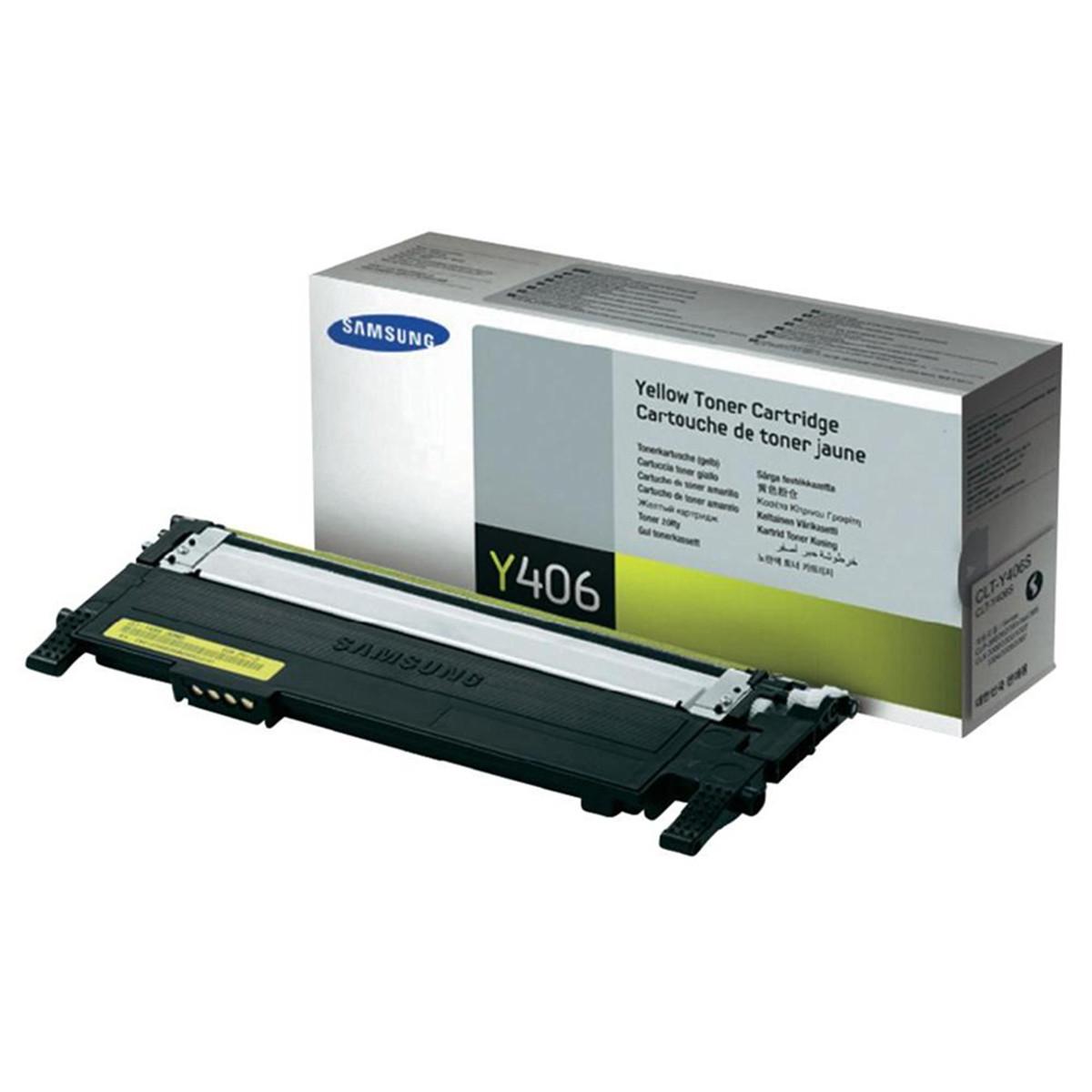 Toner Samsung CLT-Y406S Amarelo | CLP365W CLX3305 CLP365 C460W CLP360 C460FW C410W | Original 1k