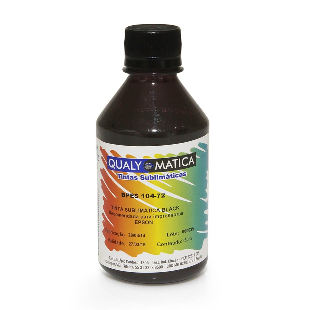 Tinta Epson T673120 Preto Corante BC3E-1509 | L800 L810 L805 L1800 | Qualy Ink 250ml