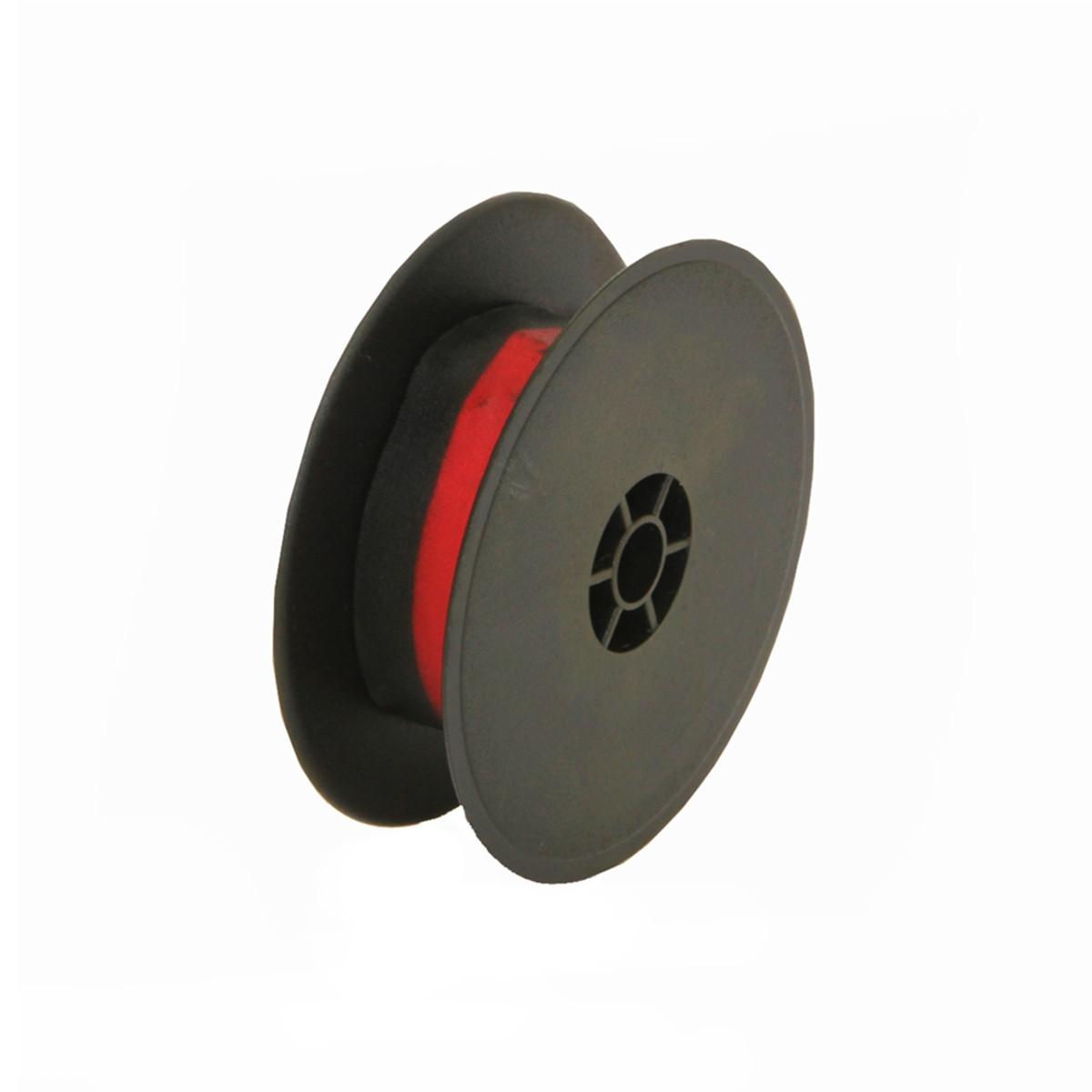 Fita para Máquina de Escrever Olivetti Universal 13mm x 8m Preto e Vermelho Nylon PV | 12 Unidades