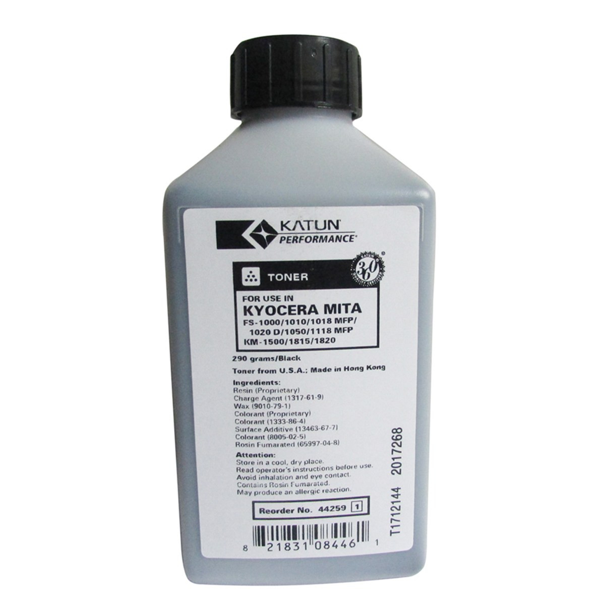 Toner Refil Kyocera TK1102 | FS1124 FS-1124 FS1024 FS-1024 FS1124MFP | Katun Performance 290g