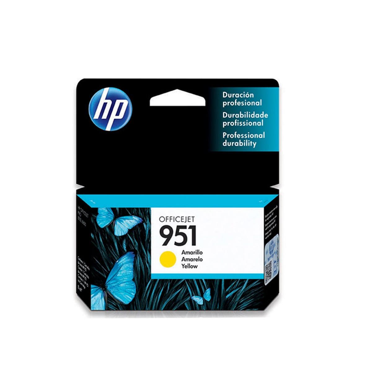 Cartucho de Tinta HP 951 CN052AL CN052AB Amarelo | 8610 8620 8100 8600 Plus 8630 | Original 8ml