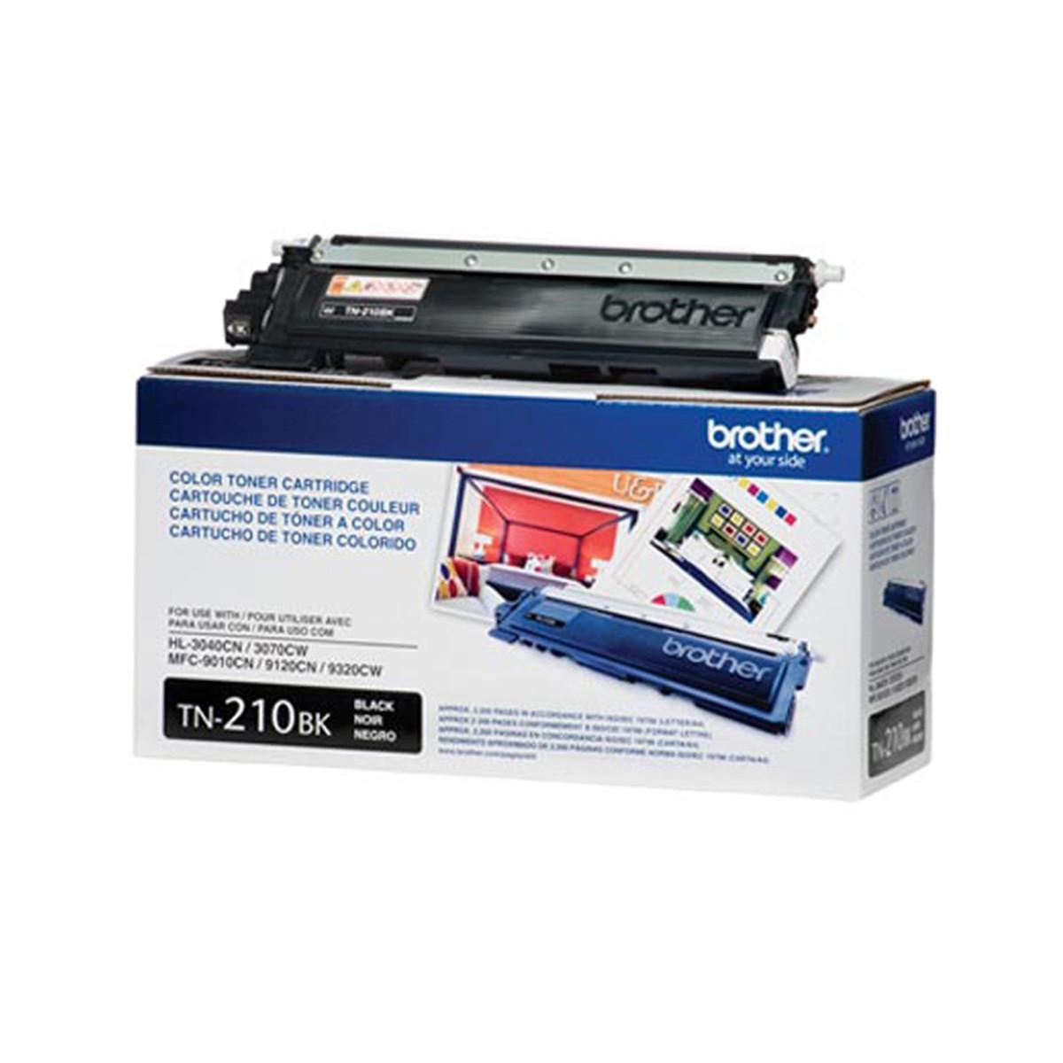 Toner Brother TN-210BK TN210 Preto   HL3040 HL3070 MFC9010 MFC9120 MFC9320   Original 2.2k