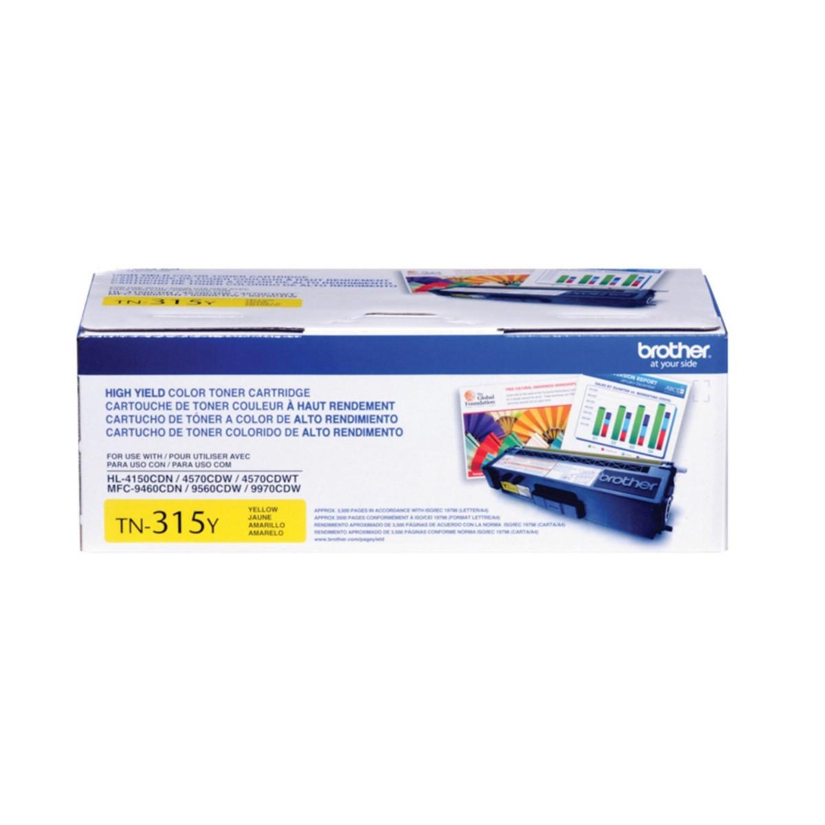Toner Brother TN315 TN315Y Amarelo | HL4140 MFC9970 HL4150 MFC9460 HL4570 MFC9560 | Original 3.5k