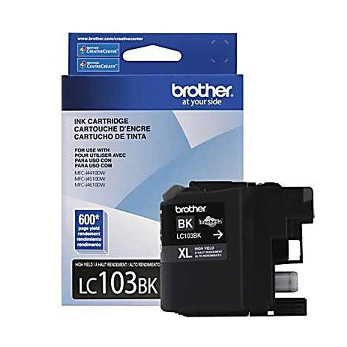 Cartucho de Tinta Brother LC-103BK LC103 Preto | MFC-J4310DW MFC-J4510DW MFC-J4710DW | Original 6ml