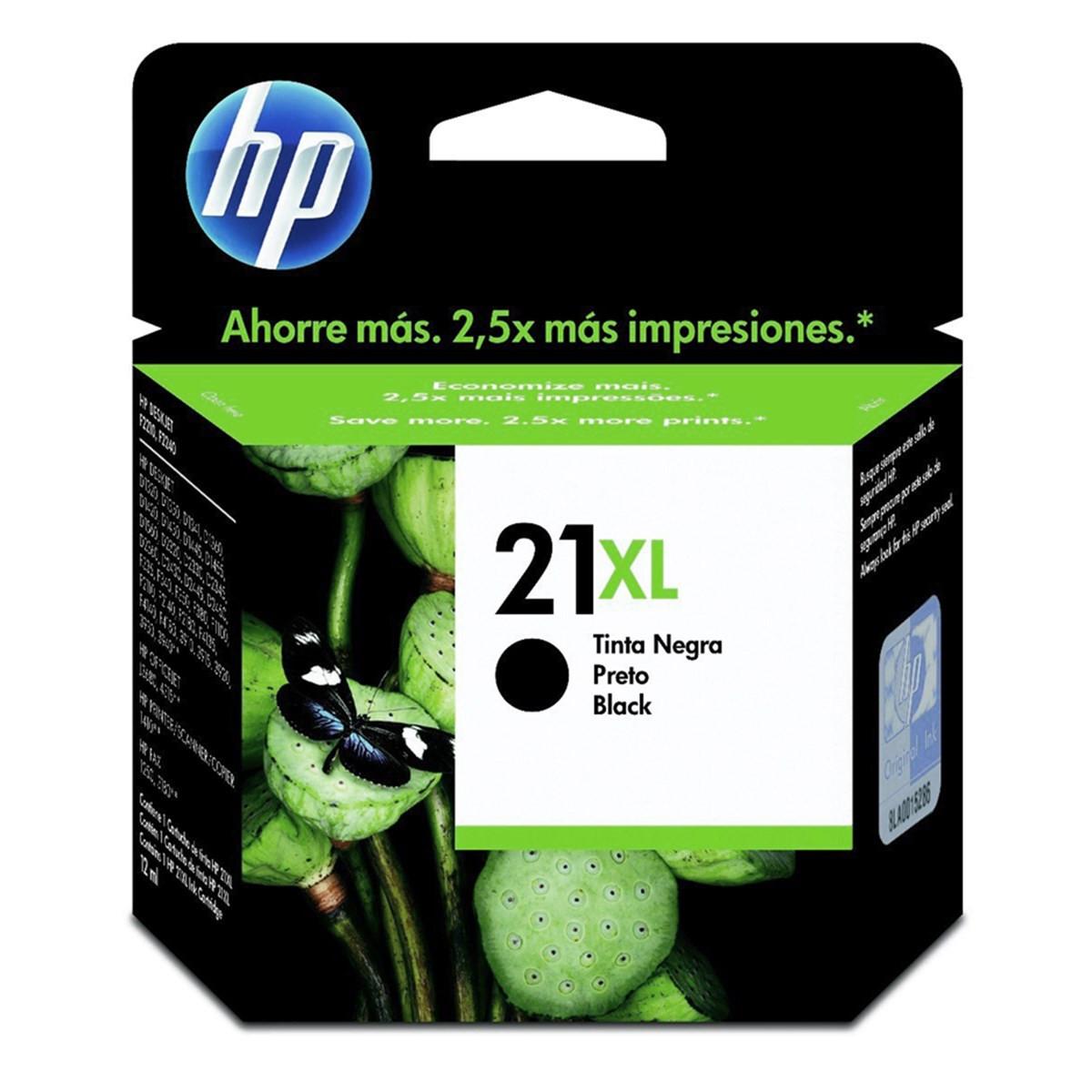 Cartucho de Tinta HP 21XL | C9351CB | Preto | D1360 | PSC 1410 | F380 | Original | 12 ml