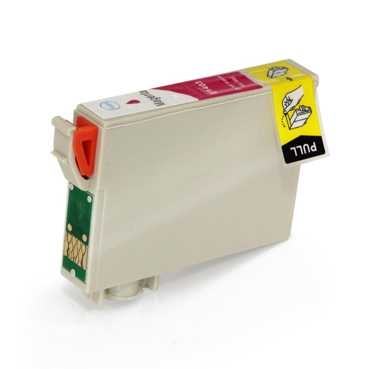 Cartucho de Tinta Compatível com Epson T140320 T140 Magenta | T42WD TX620FWD TX560WD | 15,8ml