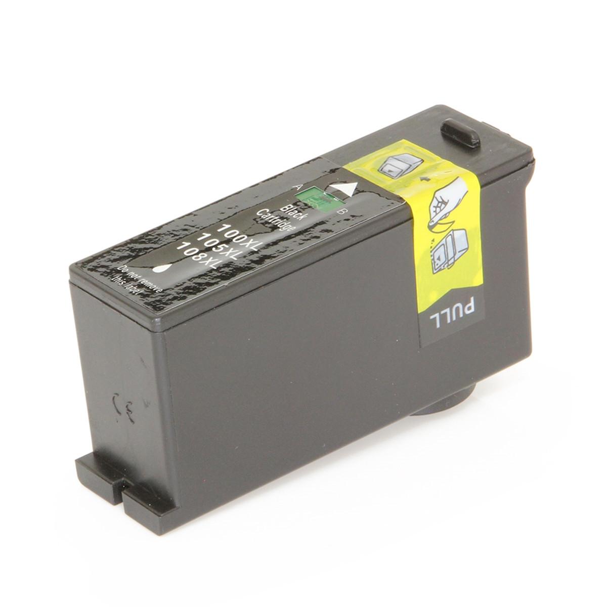 Cartucho de Tinta Compatível com Lexmark 108XL 108 Preto S305 S405 S505 S608 S605 205 S308 21,5ml