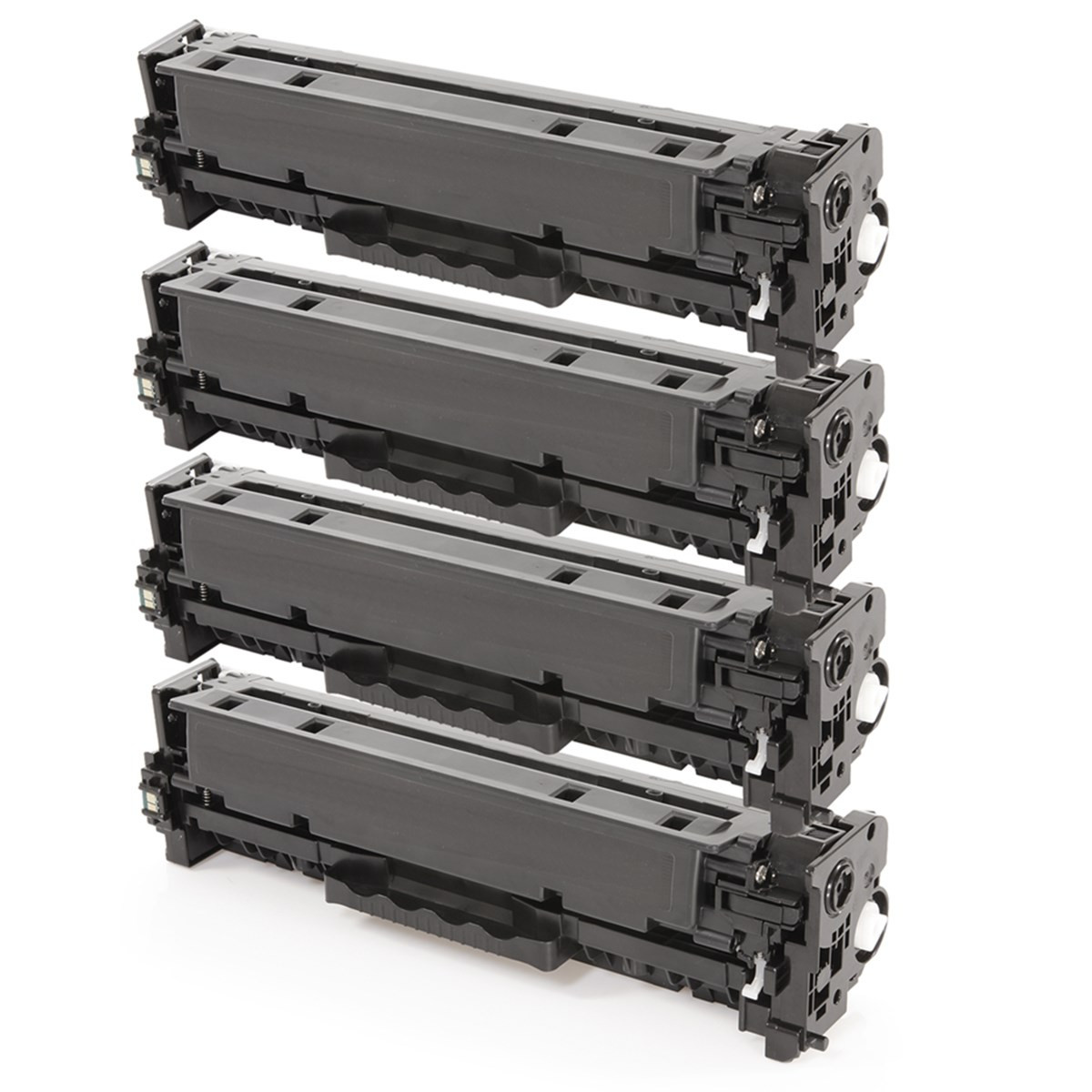 Kit 4 Toner Compatível com HP CC530A CC531A CC532A CC533A | CP2020 CP2025 CM2320 | Premium