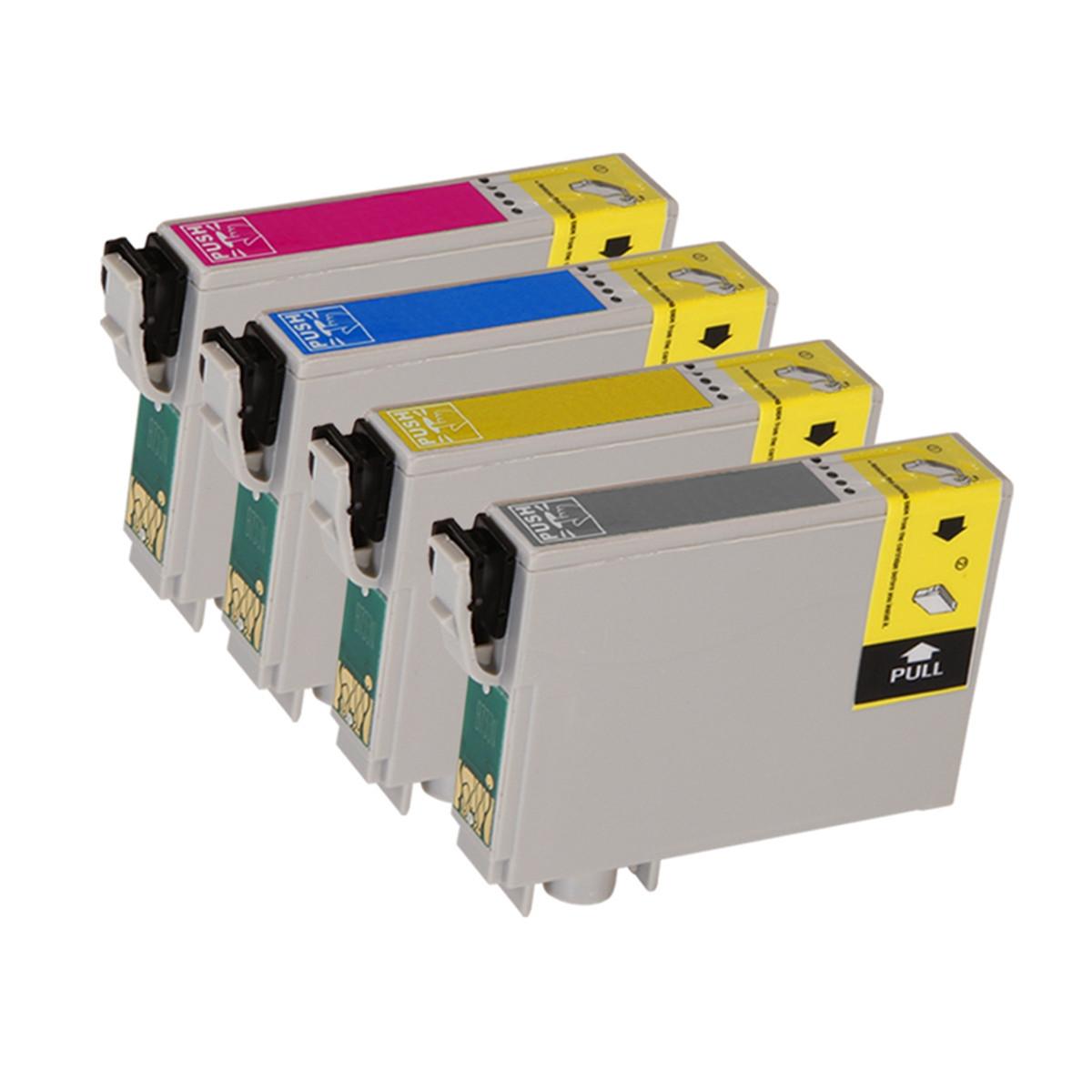 Kit 4 Cartucho de Tinta Compatível com Epson T082 T082120 T082220 T082320 T082420