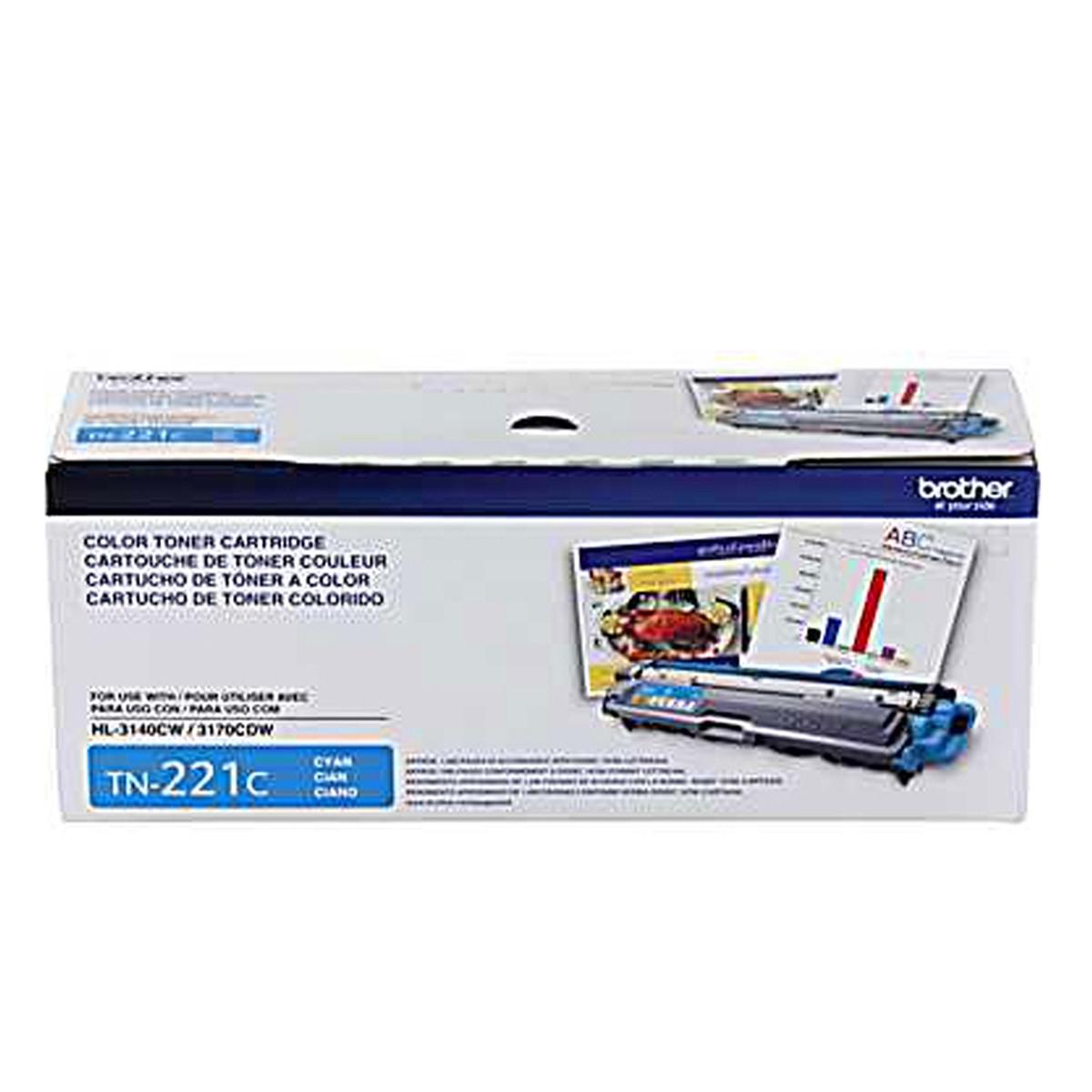 Toner Brother TN221C TN221 Ciano | HL3140CW HL3170CDW MFC9130CW MFC9330CDW | Original 1.4k