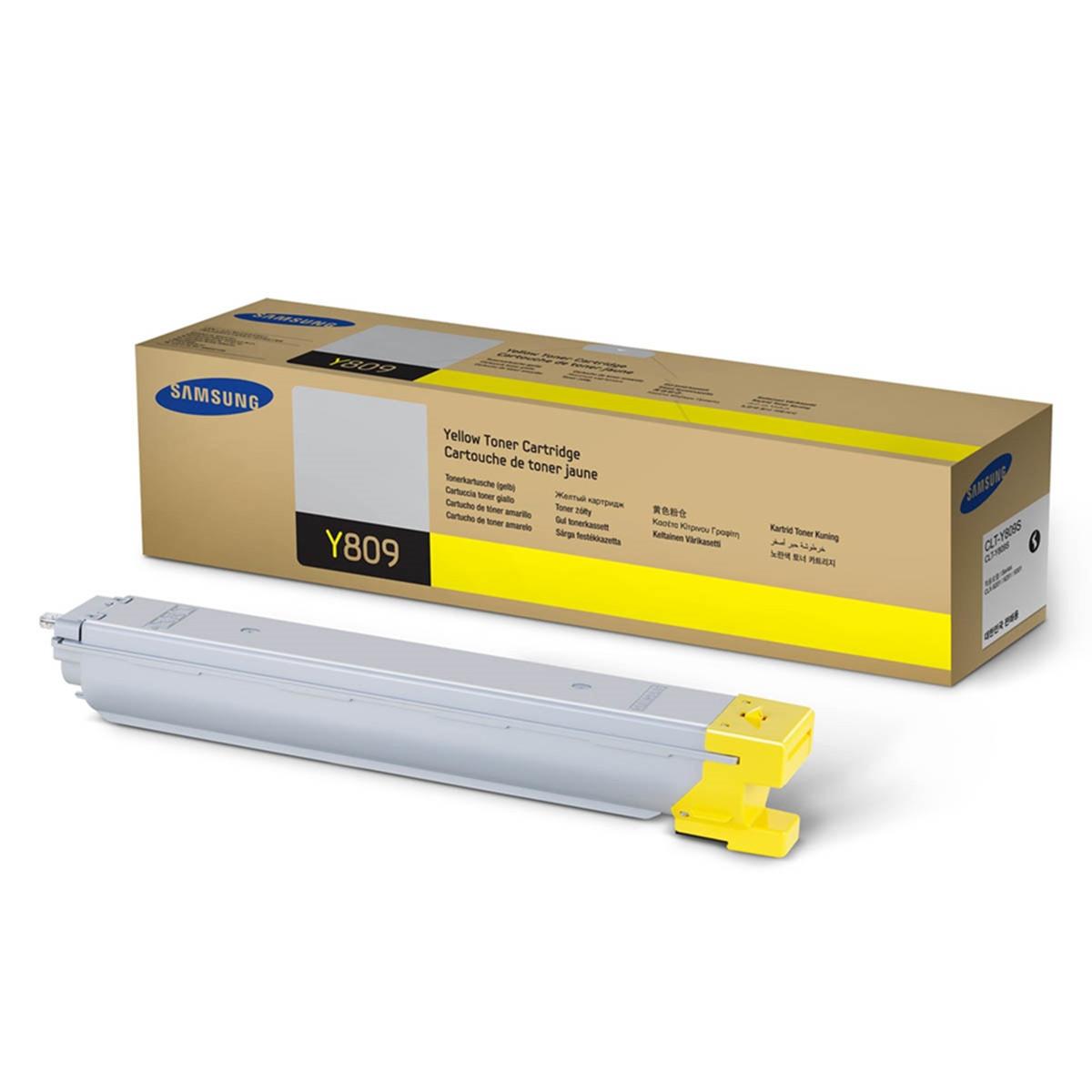 Toner Samsung CLT-Y809S Amarelo | CLX9201NA CLX9201ND CLX9251NA CLX9251ND CLX9301NA | Original 15k