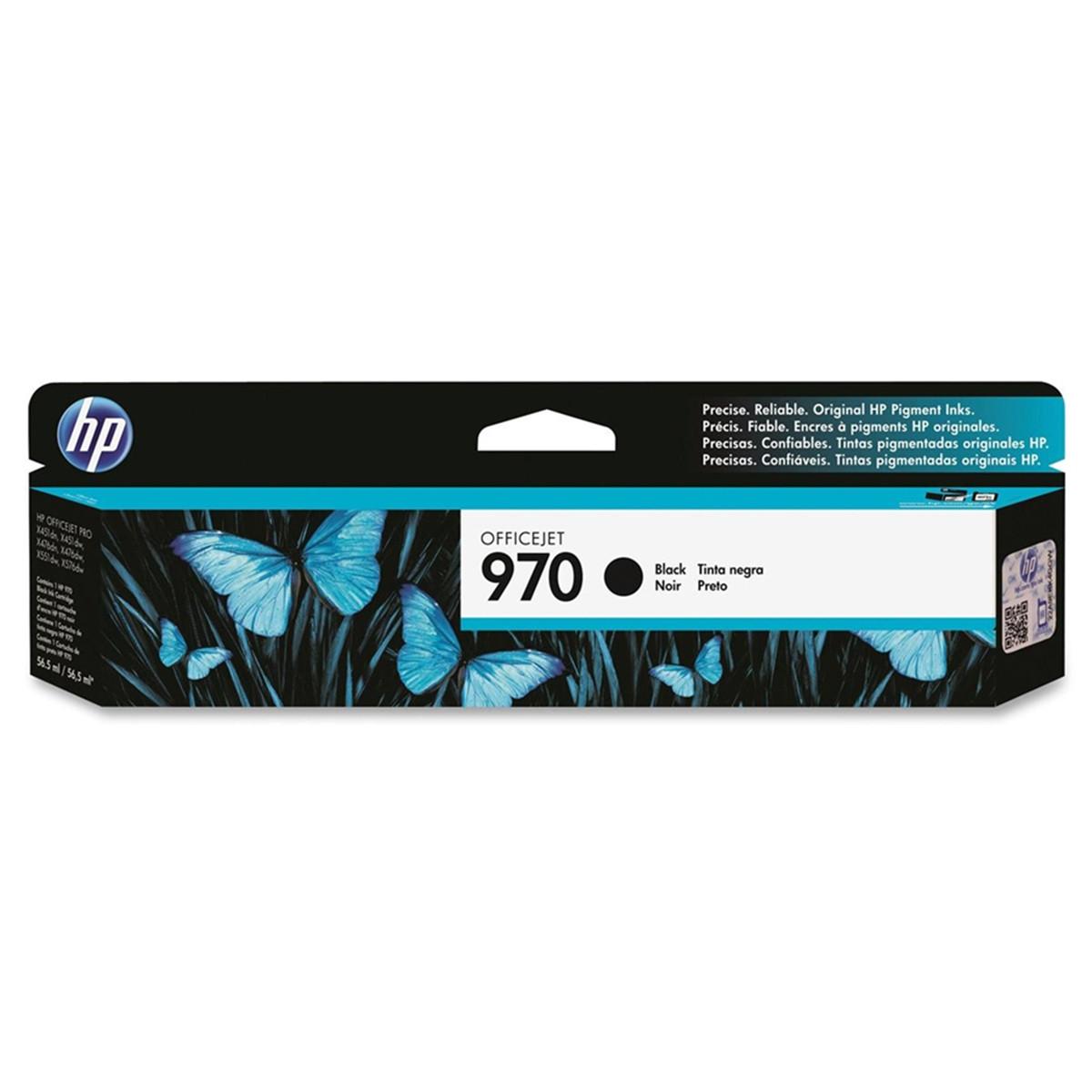 Cartucho de Tinta HP 970 CN621AM Preto   X476DW X451DW   Original 56,5 ml