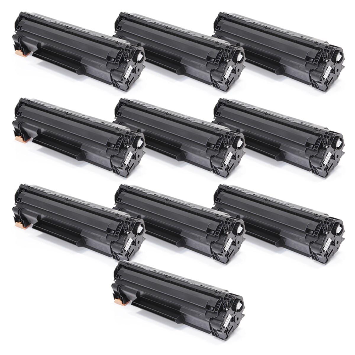 Kit 10 Toner Compatível com HP CF283A 83A   M125A M201 M225 M226 M202 M127FN M127FW   Premium 1.5k