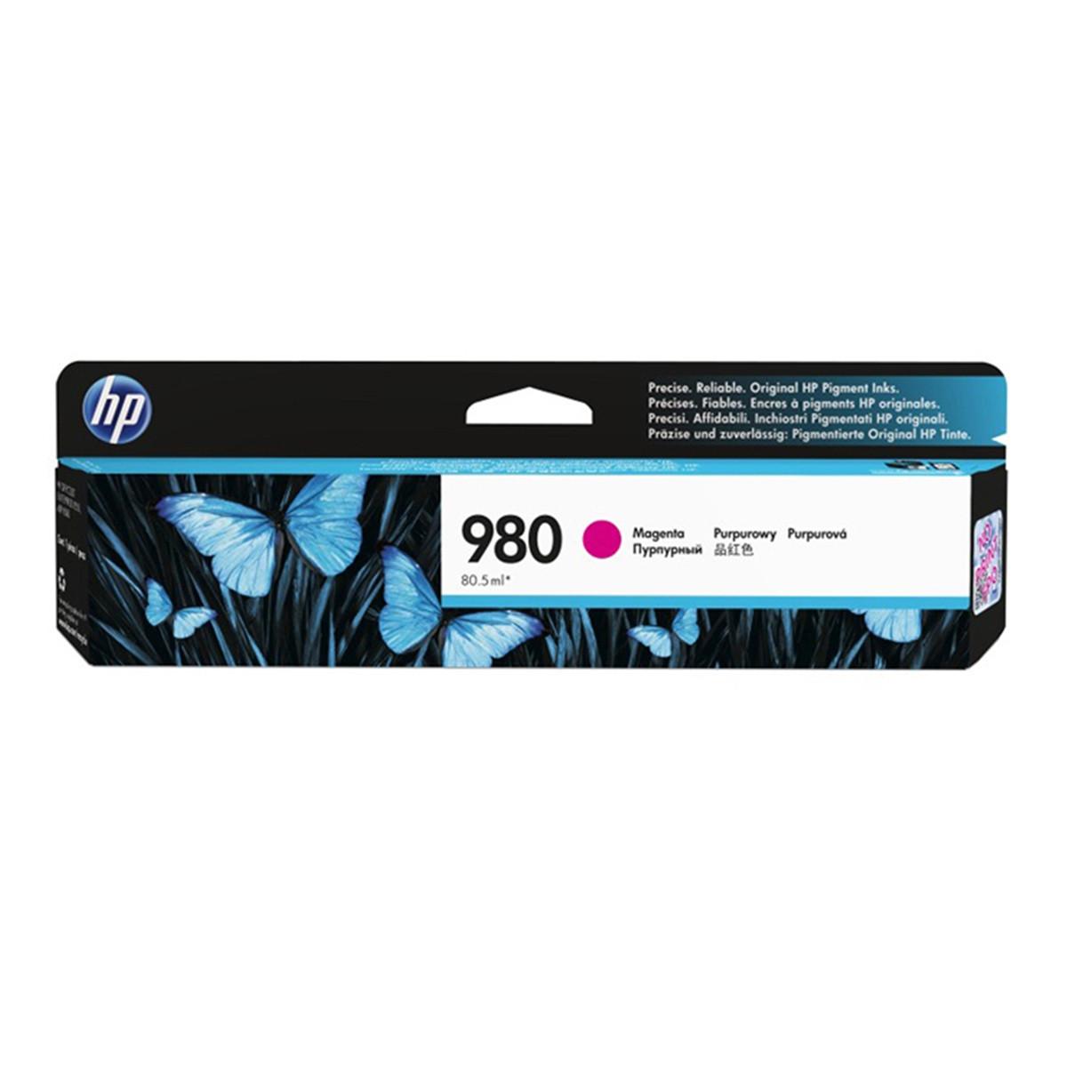 Cartucho de Tinta HP 980 D8J08A Magenta | X585Z X555DN X555XH X585DN X585F | Original 80,5ml
