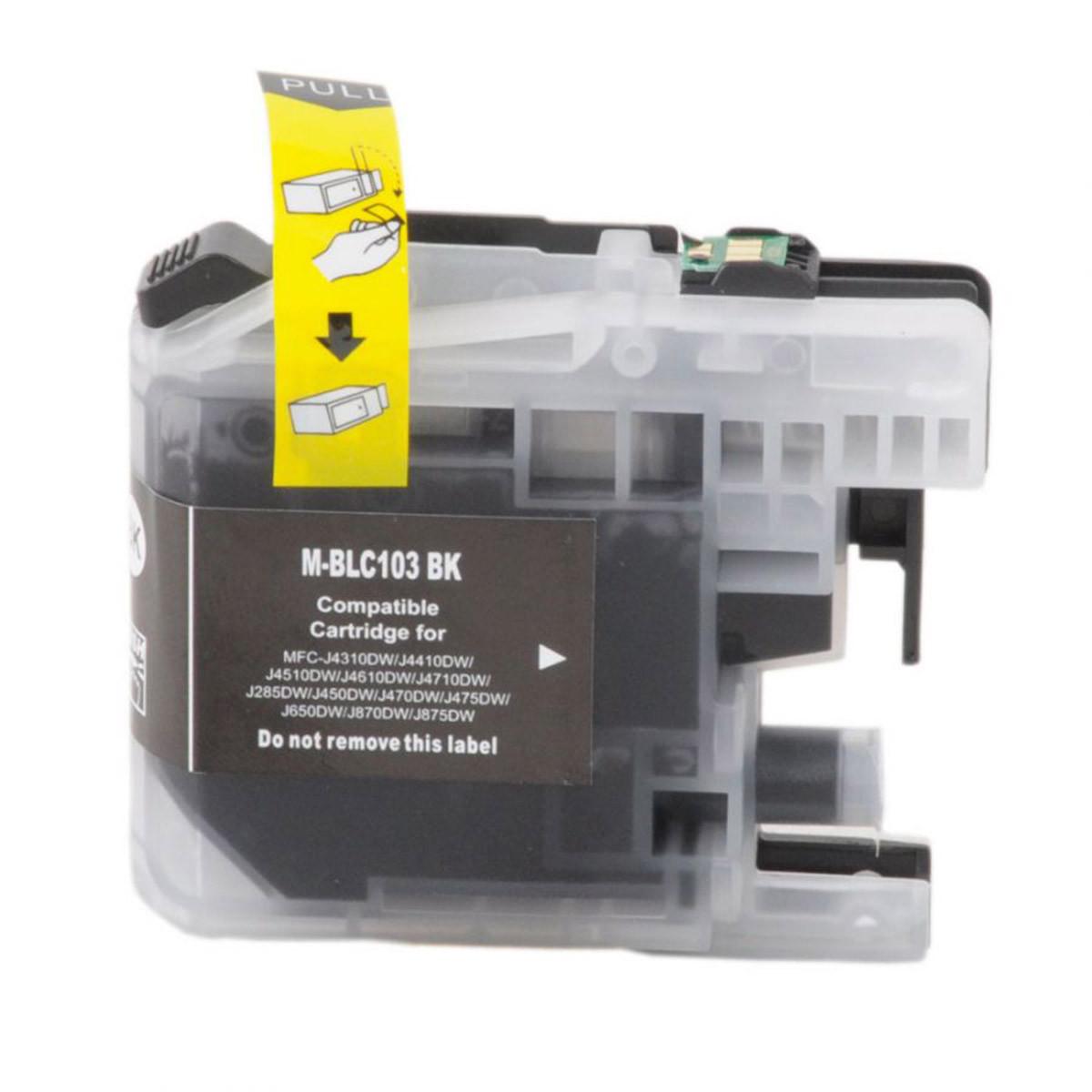 Cartucho de Tinta Compatível com Brother LC-103BK LC-109BK Preto | 6520DW 6920DW 6720DW 6520DW 20ml