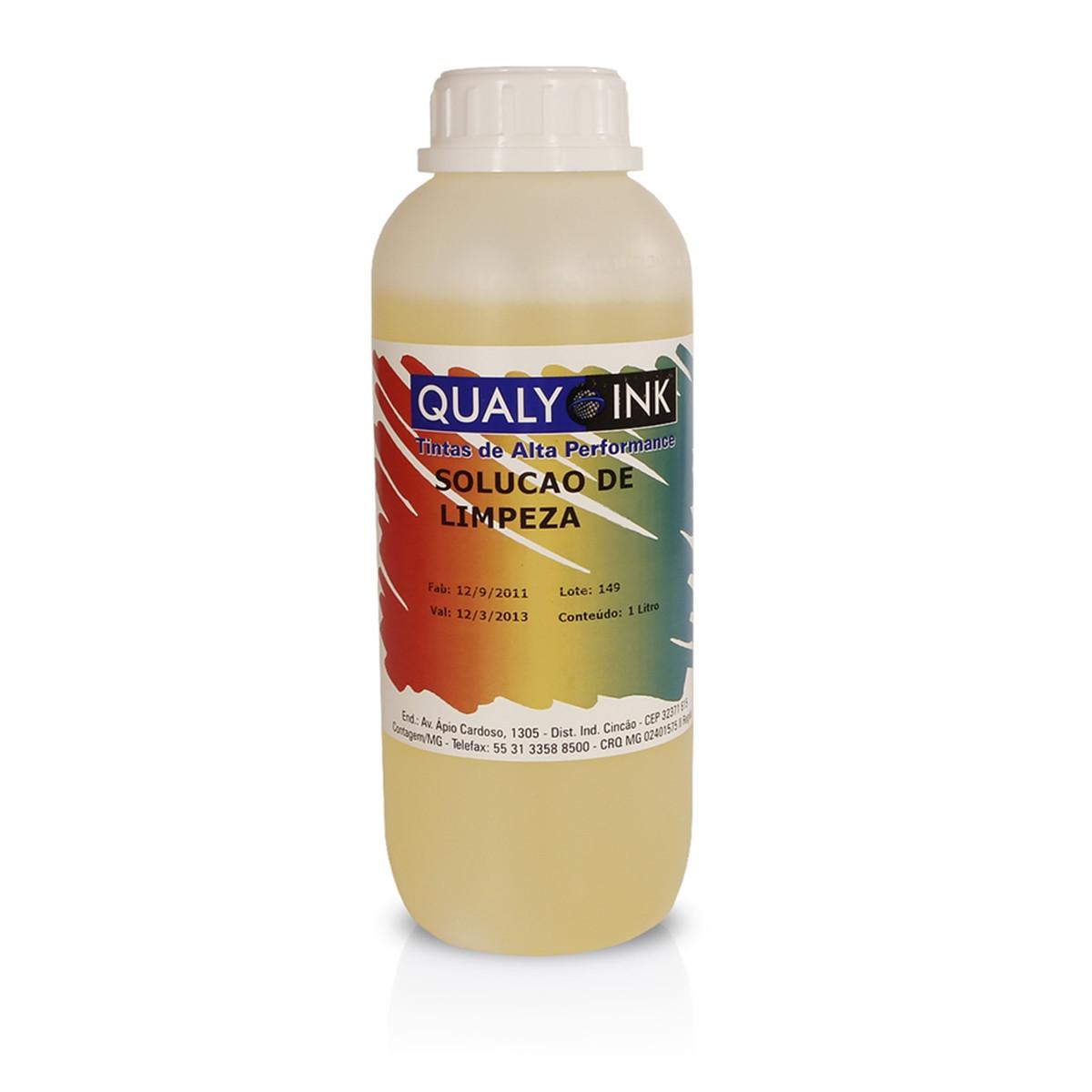 Solução de Limpeza Diluída | 1 Litro | Qualy Ink