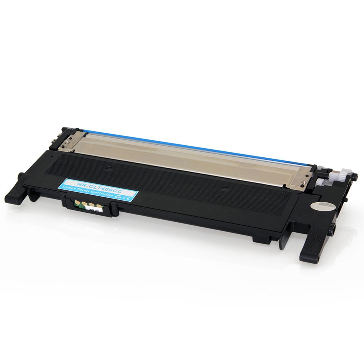 Toner Compatível com Samsung CLT-C406S Ciano | CLP365W CLP365 CLP360 CLX3305 | Importado 1k