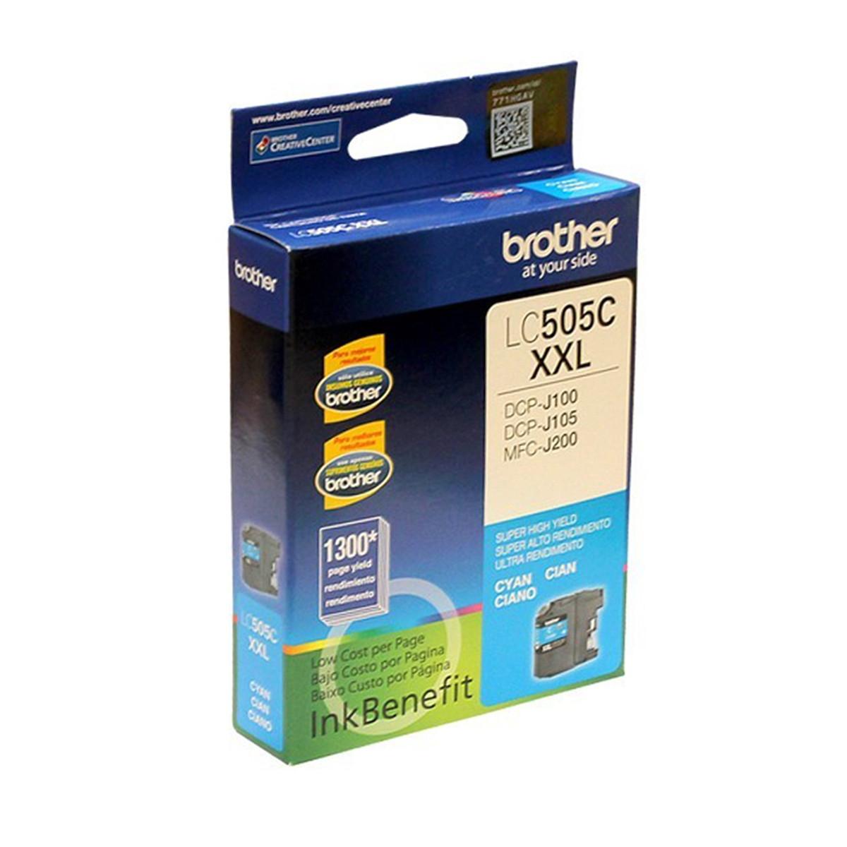 Cartucho de Tinta Brother LC-505C LC505 Ciano | MFC-J200 DCP-J105 DCP-J100 | Original 12ml