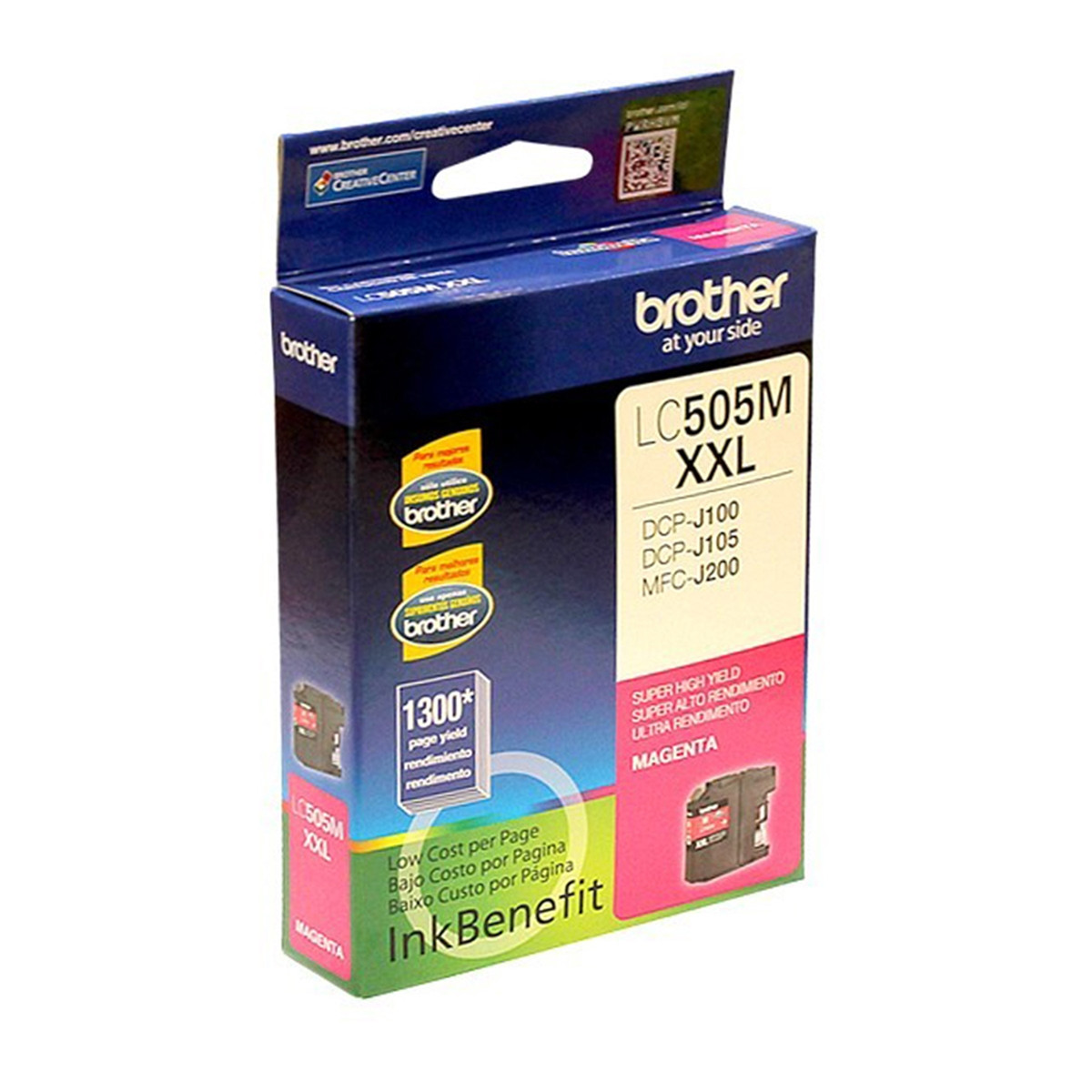 Cartucho de Tinta Brother LC-505M LC505 Magenta | DCP-J105 DCP-J100 MFC-J200 | Original 12ml