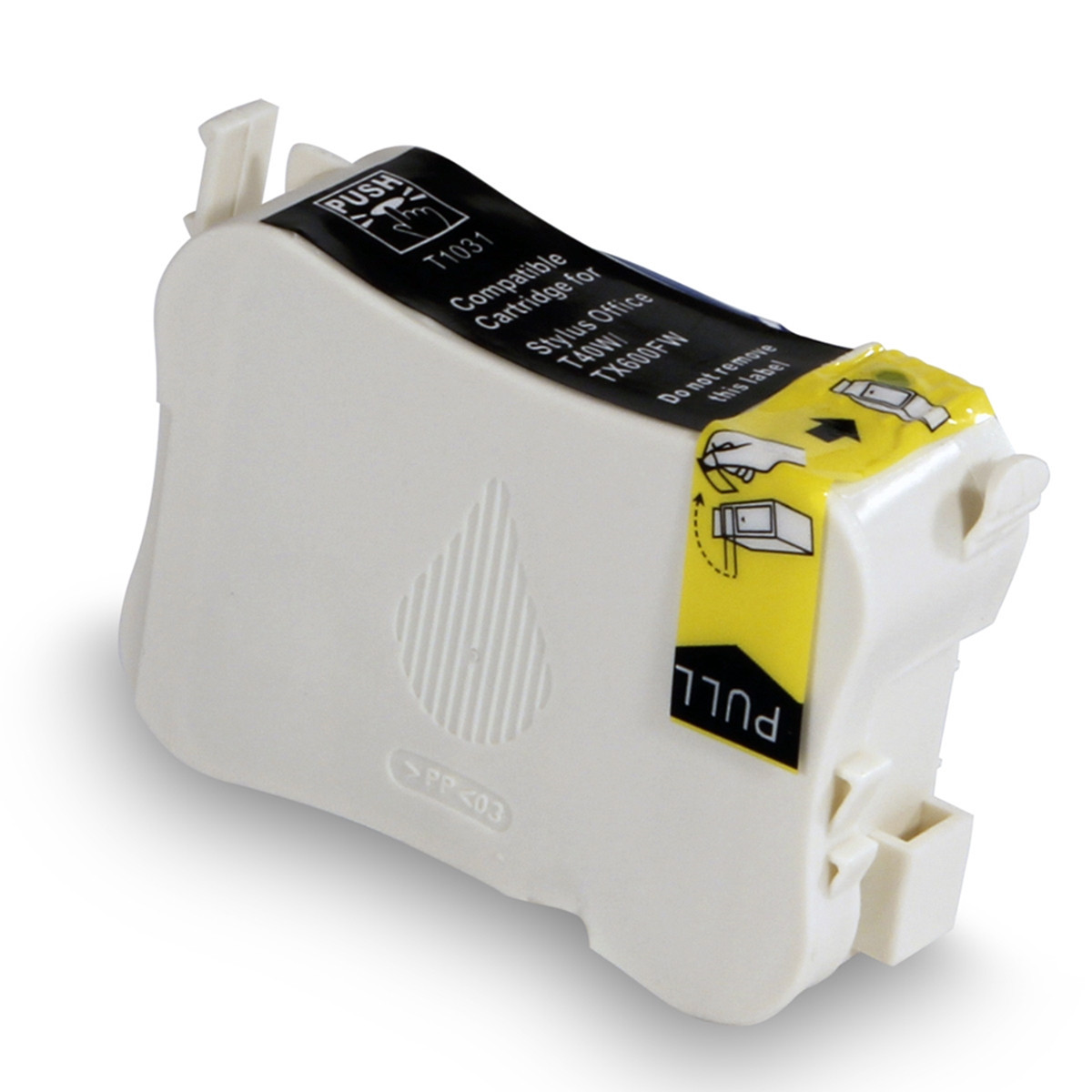 Cartucho de Tinta Compatível com Epson T103120 T103 T1031 Preto | T40W TX550W TX550FW TX600FW | 28ml