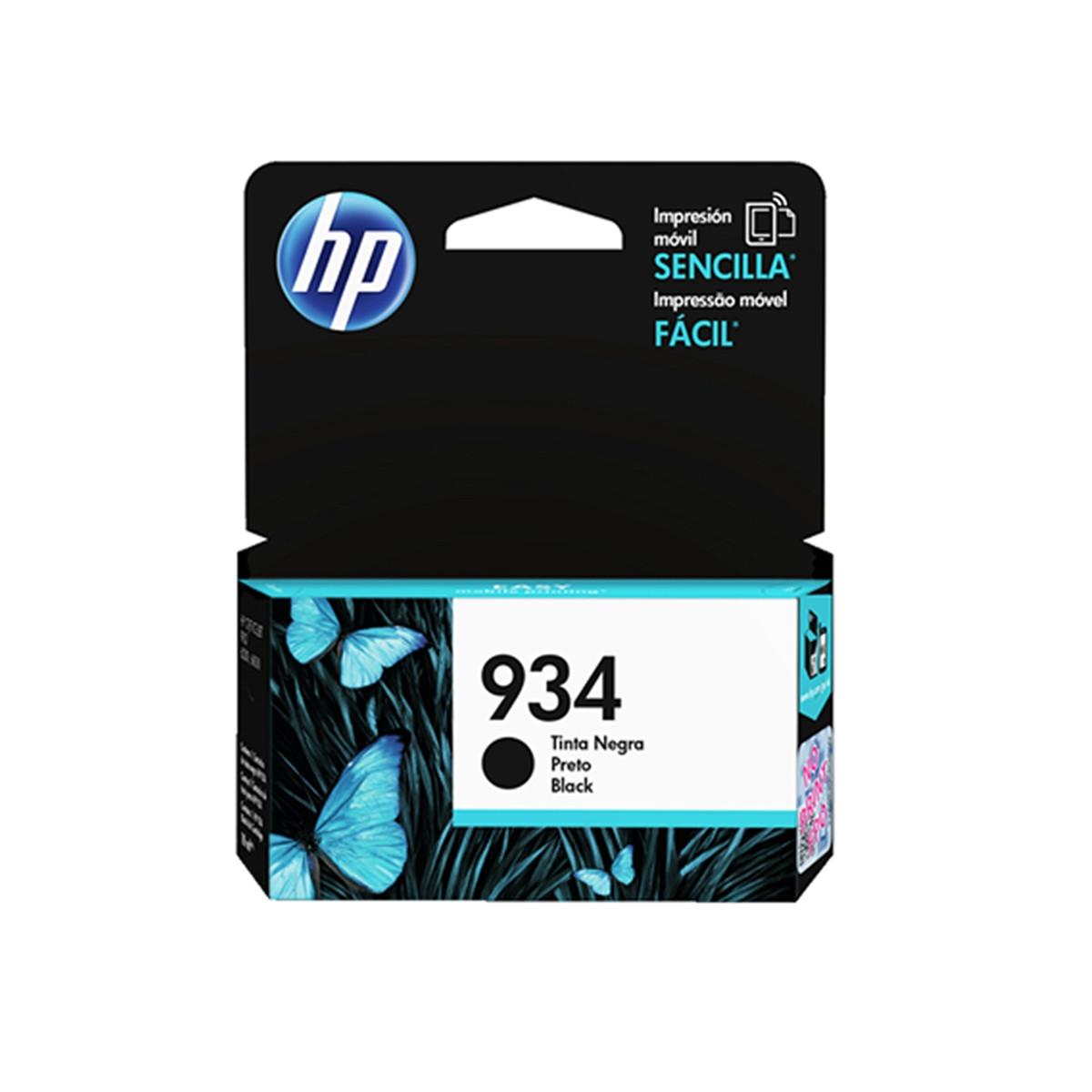 Cartucho de Tinta HP 934 C2P19AL C2P19AN C2P19AB Preto | 6230 E3E03A 6830 E3E02A | Original 10ml