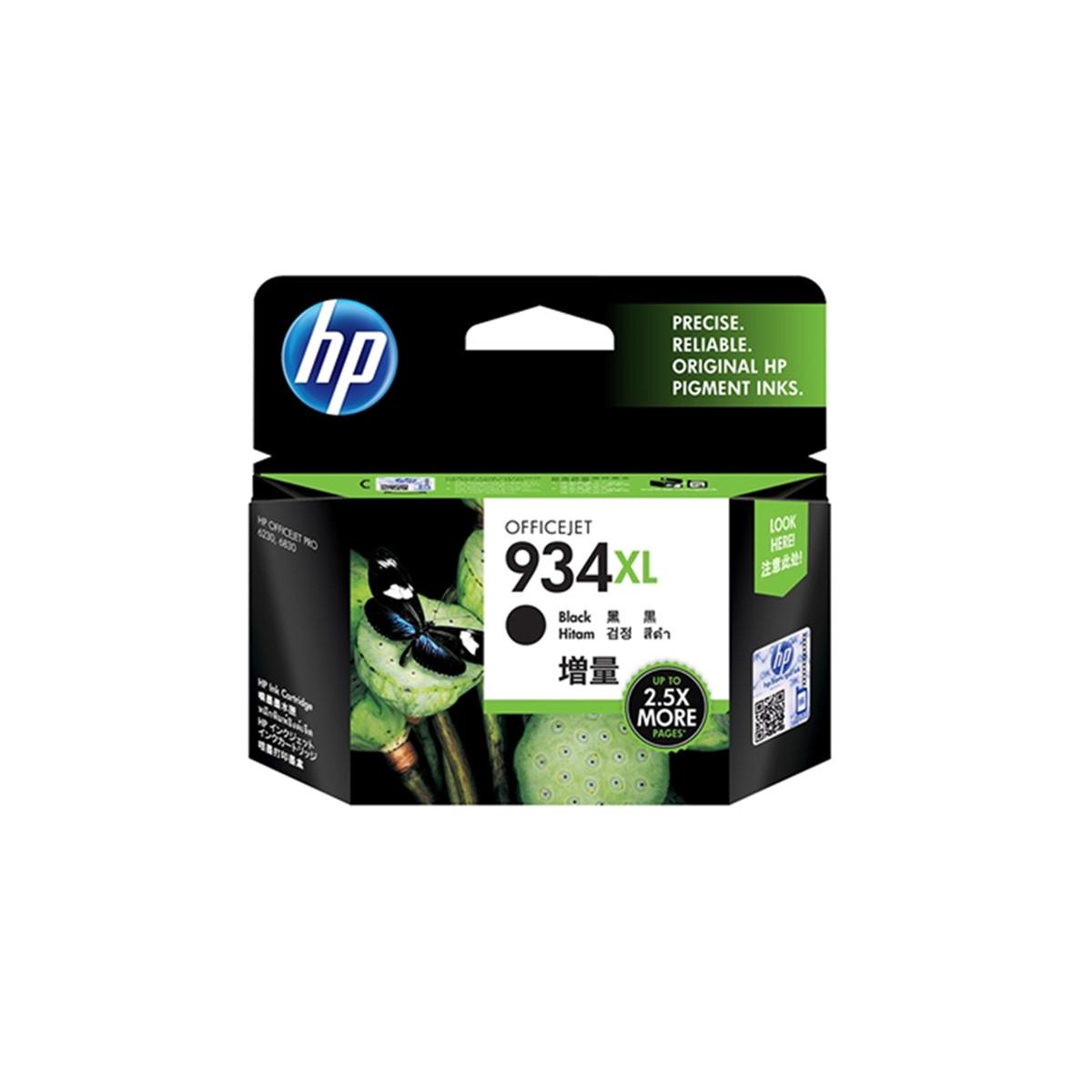 Cartucho de Tinta HP 934 934XL C2P23AL C2P23AN Preto   6230 E3E03A 6830 E3E02A   Original 25ml