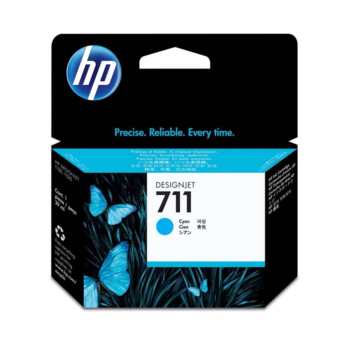 Cartucho de Tinta HP 711 CZ134A Ciano | Pacote com 3 Unidades de 29ml cada | Original