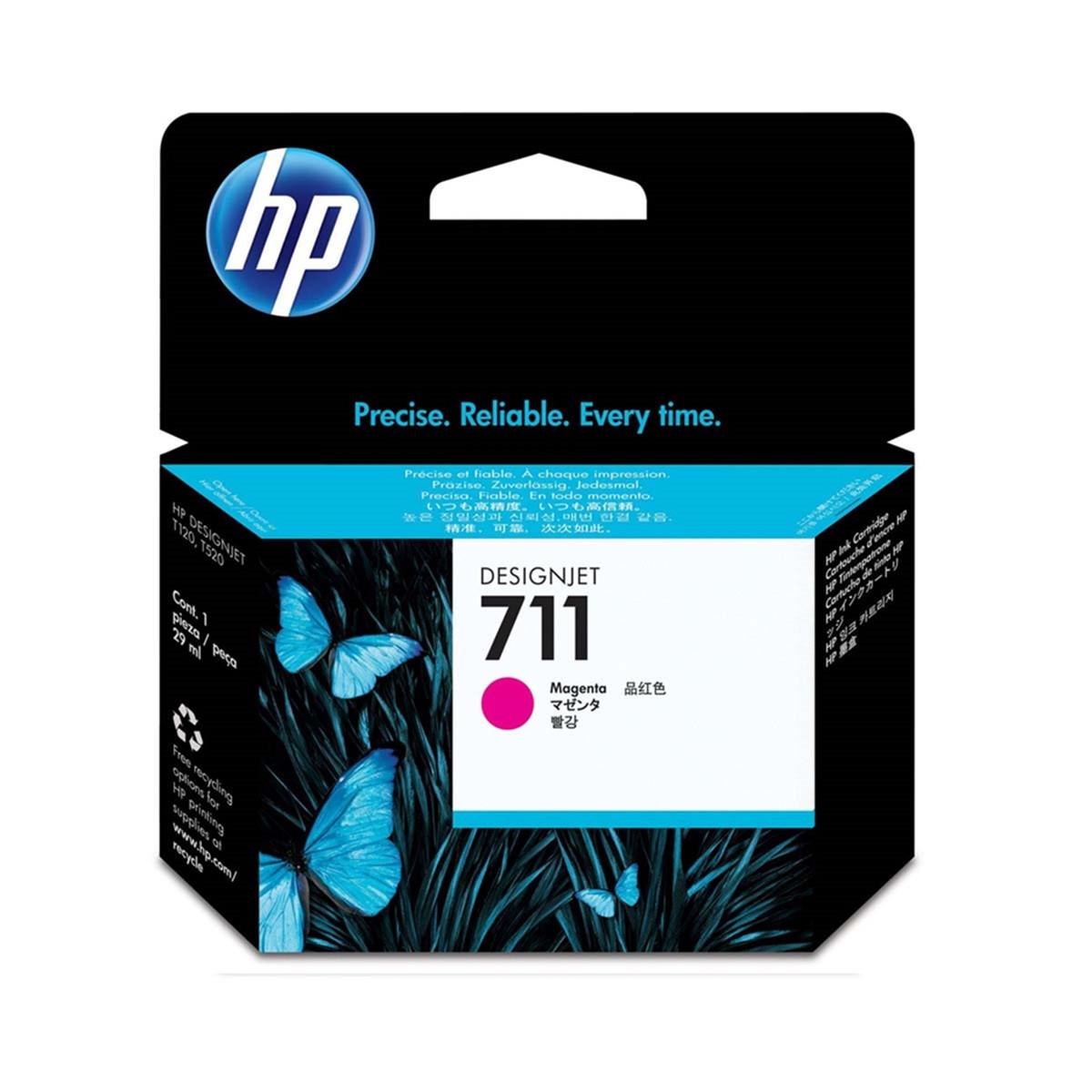 Cartucho de Tinta HP 711 CZ135A CZ135AB Magenta | Pacote com 3 Unidades de 29ml cada | Original