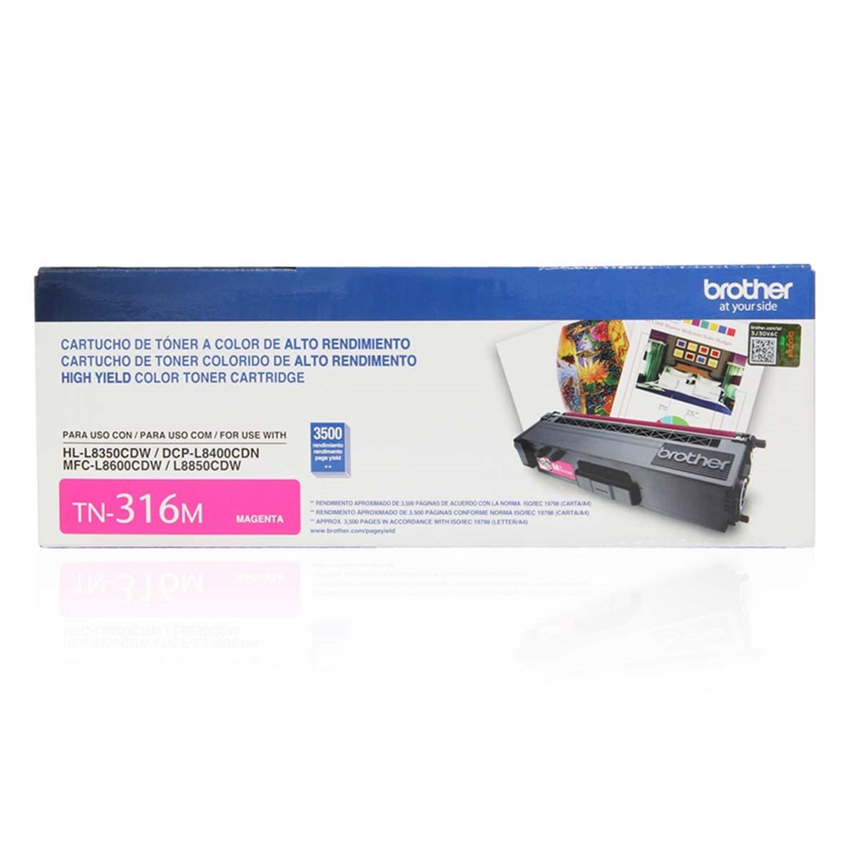 Toner Brother TN-316M TN316 Magenta | HL-L8350CDW MFC-L8600CDW DCP-L8400CDN | Original
