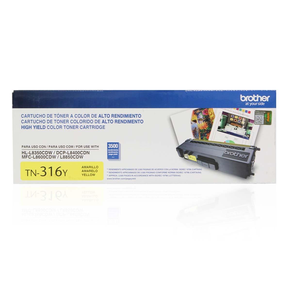 Toner Brother TN-316Y TN316 Amarelo   DCP-L8400CDN MFC-L8600CDW HL-L8350CDW   Original