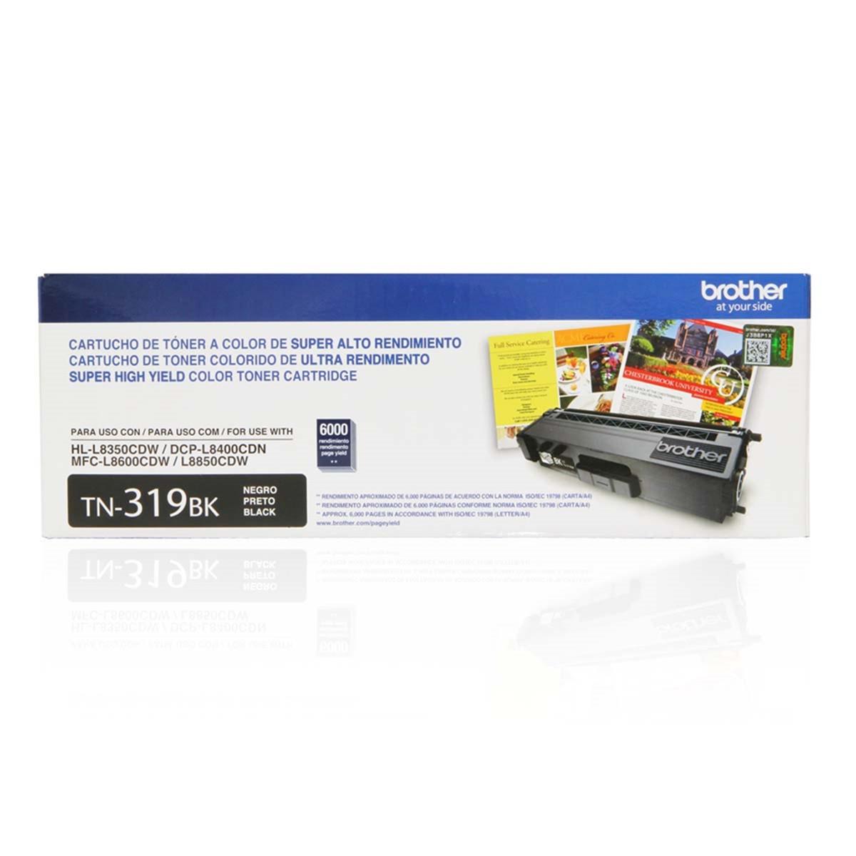 Toner Brother TN-319BK TN319 Preto | DCP-L8400CDN HL-L8350CDW MFC-L8600CDW | Original