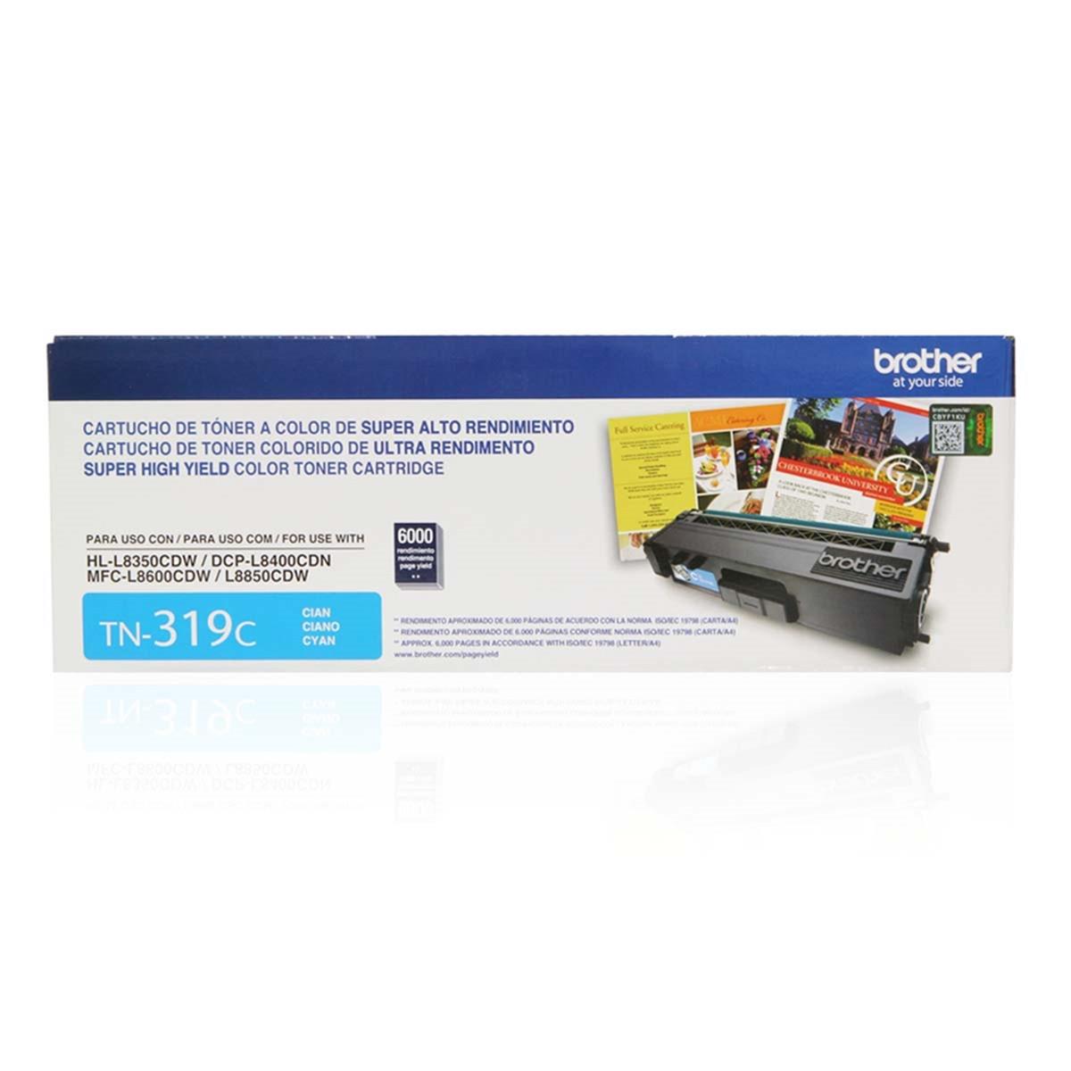 Toner Brother TN-319C TN319 Ciano | MFC-L8600CDW HL-L8350CDW DCP-L8400CDN | Original