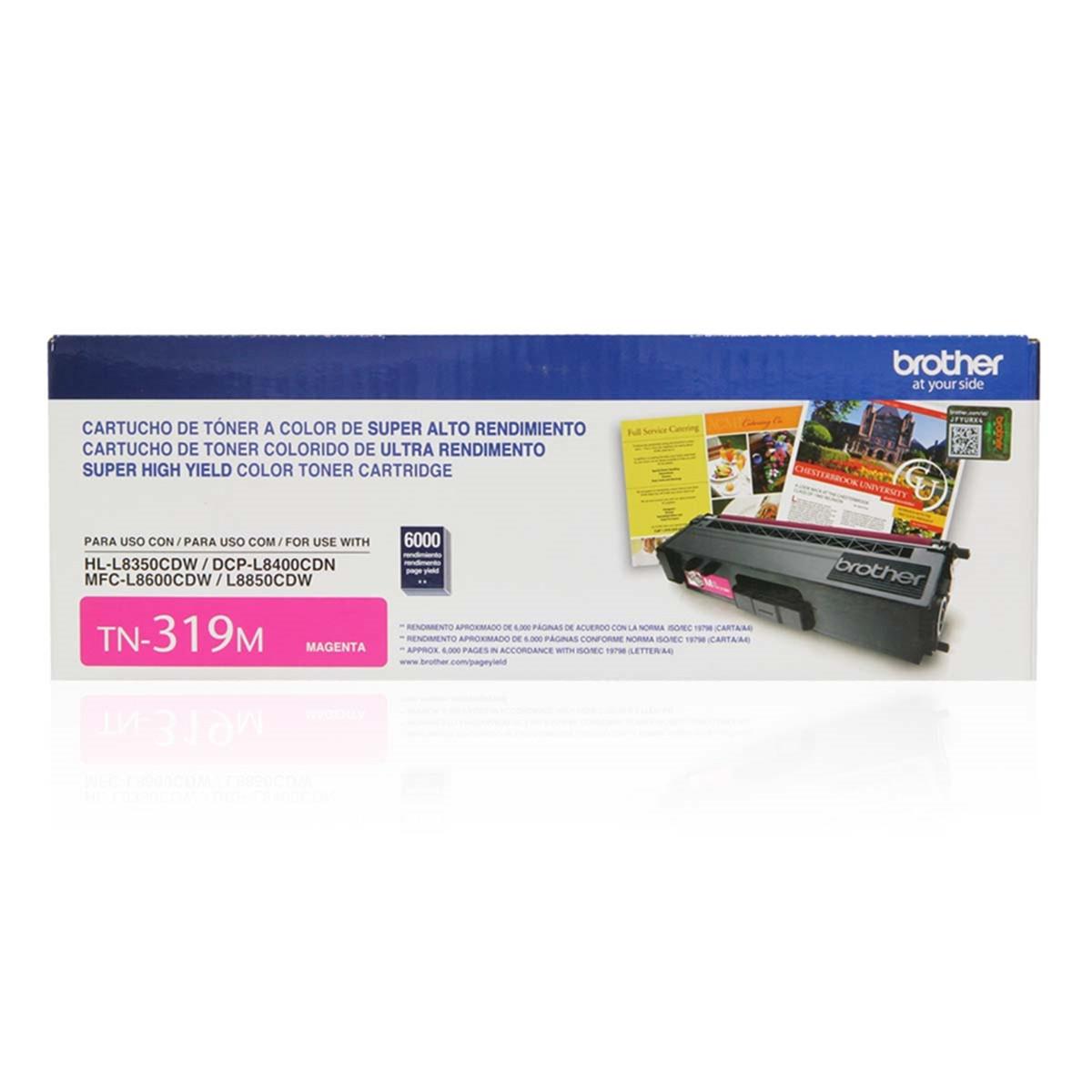 Toner Brother TN-319M TN319 Magenta | MFC-L8600CDW MFC-L8850CDW DCP-L8400CDN | Original