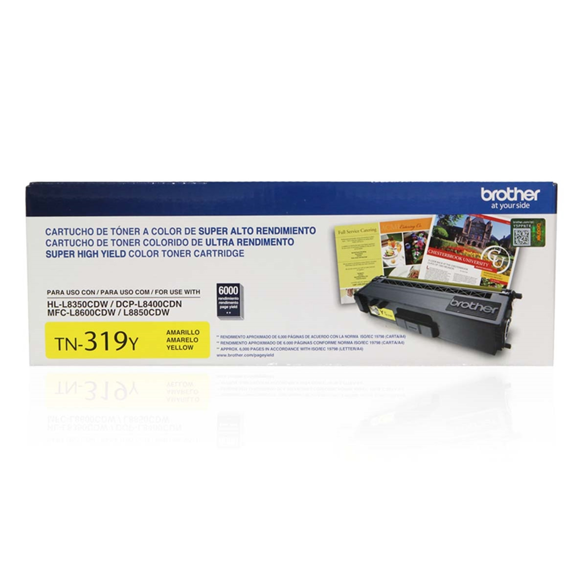 Toner Brother TN-319Y TN319 Amarelo | HL-L8350CDW DCP-L8400CDN MFC-L8600CDW | Original