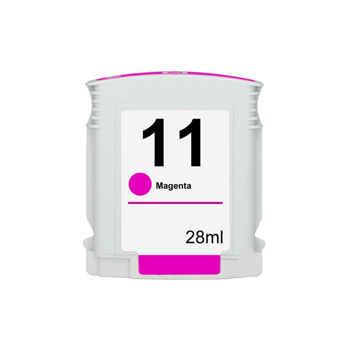 Cartucho de Tinta Compatível com HP 11 C4837A Magenta   1000 2200 2300 2800 2600 3000 9120   28ml