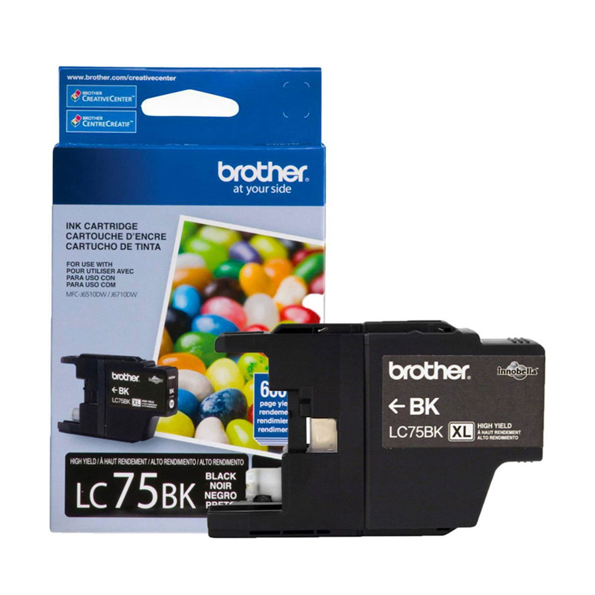 Cartucho de Tinta Brother LC-75BK LC-75 Preto | MFC-J6510DW MFC-J6710DW MFC-J430W | Original 13ml