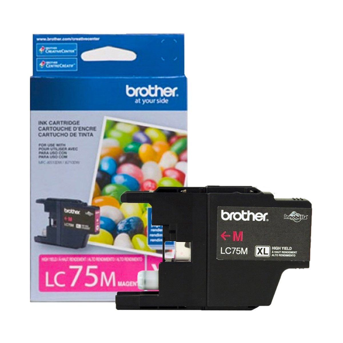 Cartucho de Tinta Brother LC-75M LC-75 Magenta | MFC-J6710DW MFC-J6510DW MFC-J430W | Original 7ml